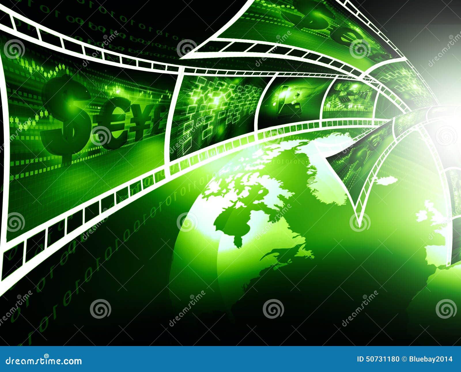 Filmremsor med affärsbilder
