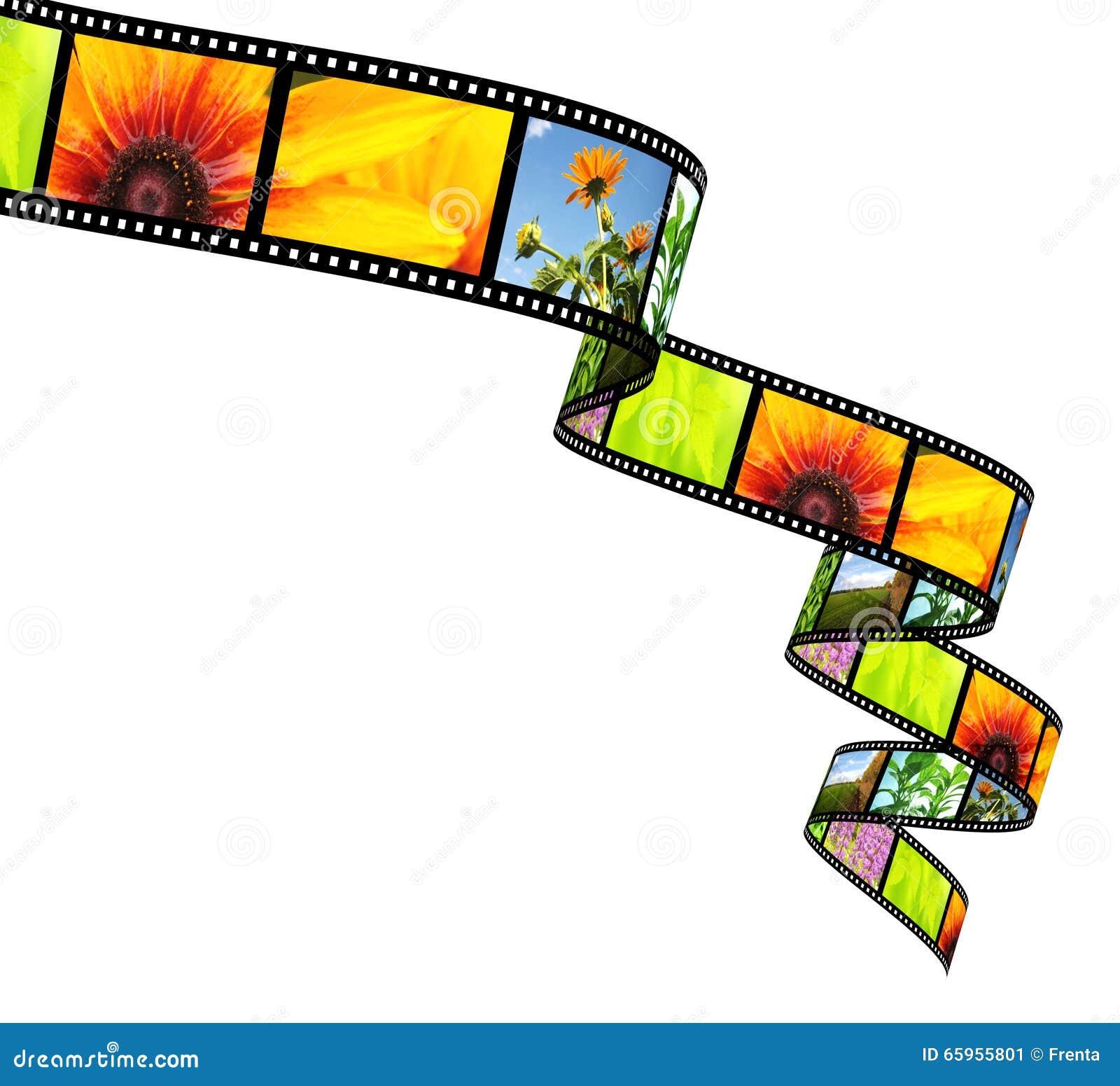 Filmstrip isolerat objekt 3d över white