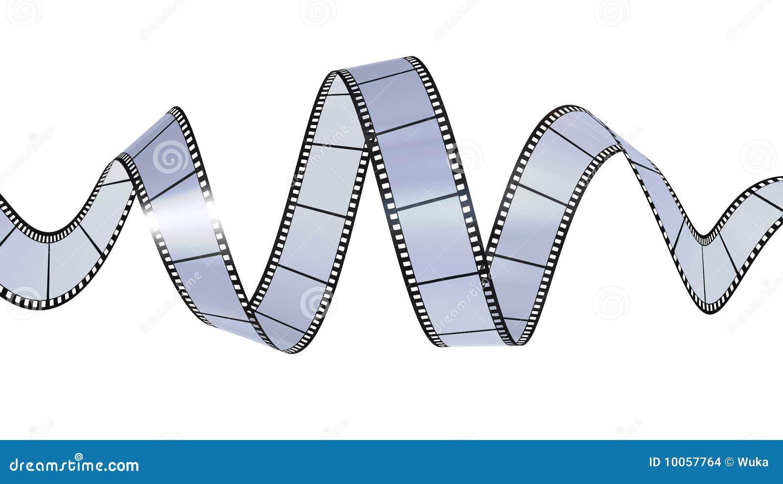 Filmstrip que acena no código digital