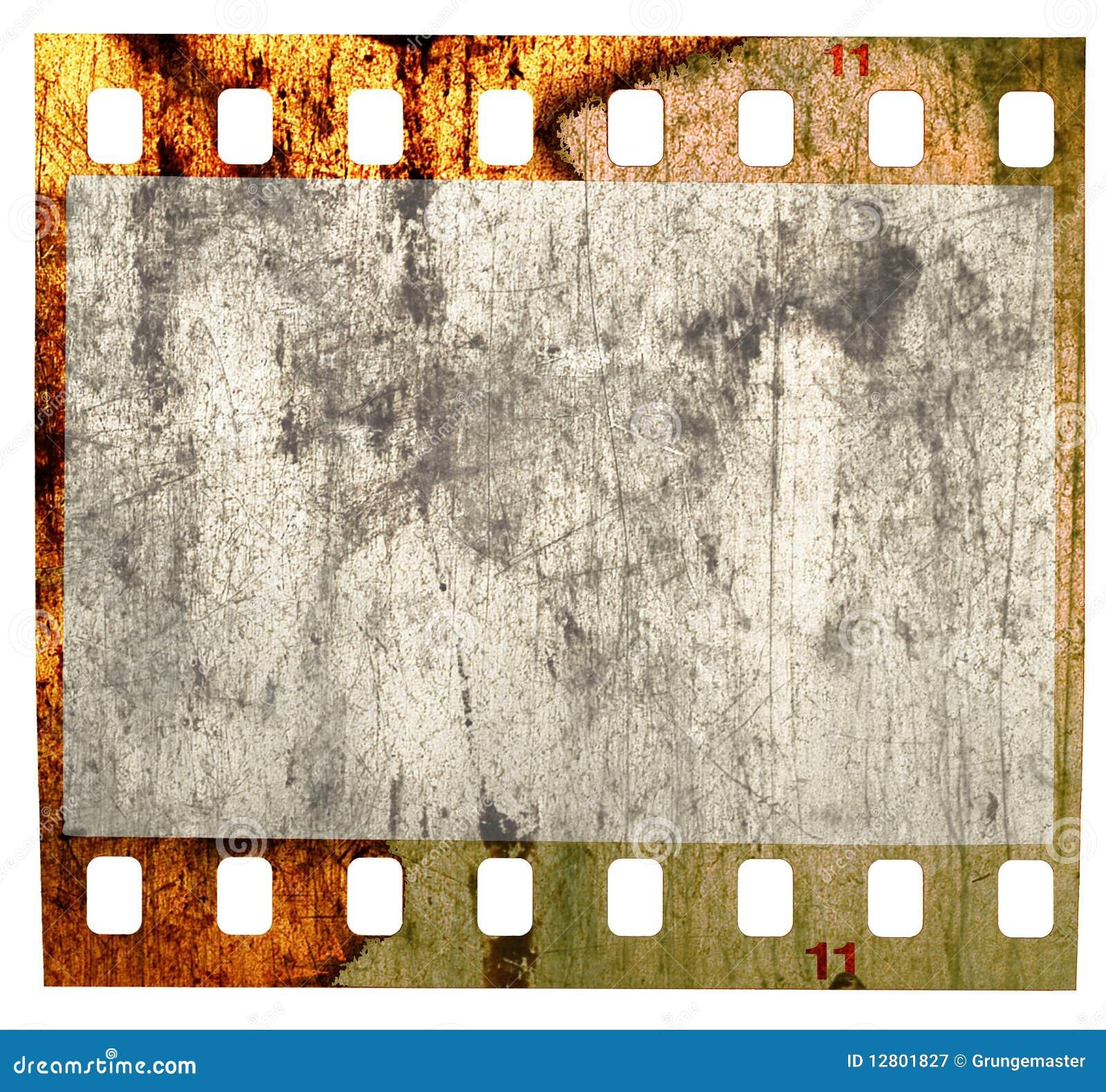 Filmstrip sujo, golpeado, isolado