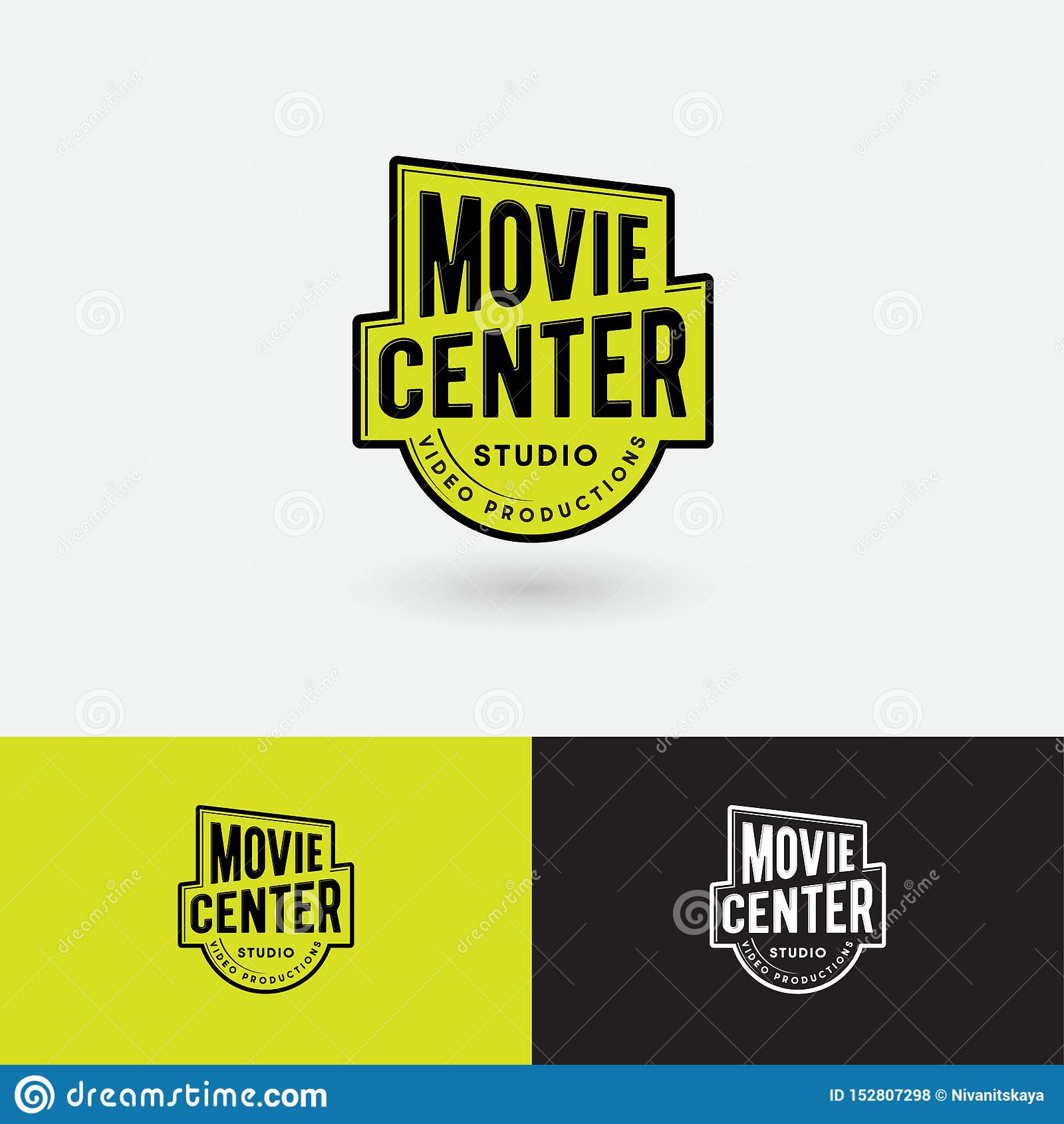 Filmu Centrum logo Wideo produkcji studia emblemat Symbol złocista nagroda z listami