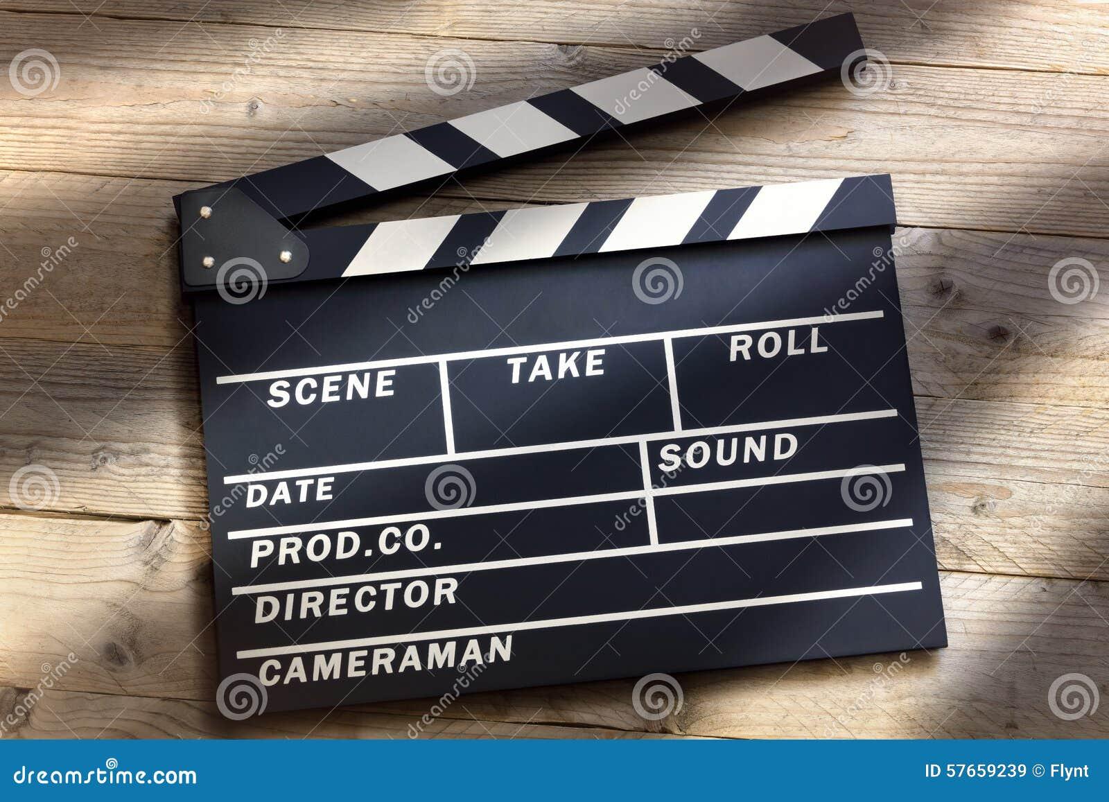 Download Filmu Clapper deska obraz stock. Obraz złożonej z blackboard - 57659239