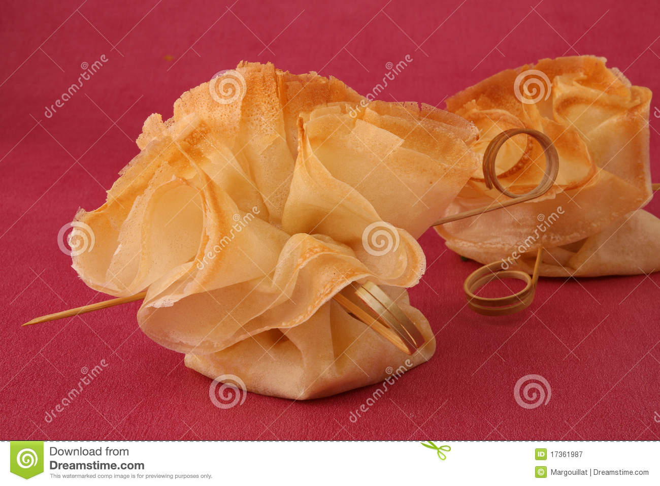 Filo garnish royalty free stock photography image 17361987 for Canape garnishes