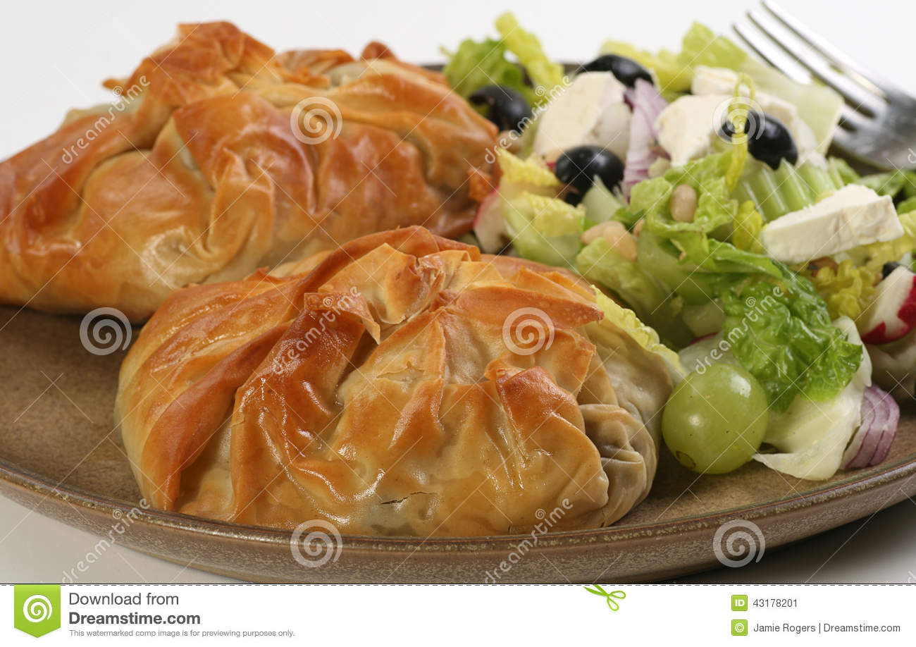 Filo pastry parcels stock photo image 43178201 for Pastry canape fillings