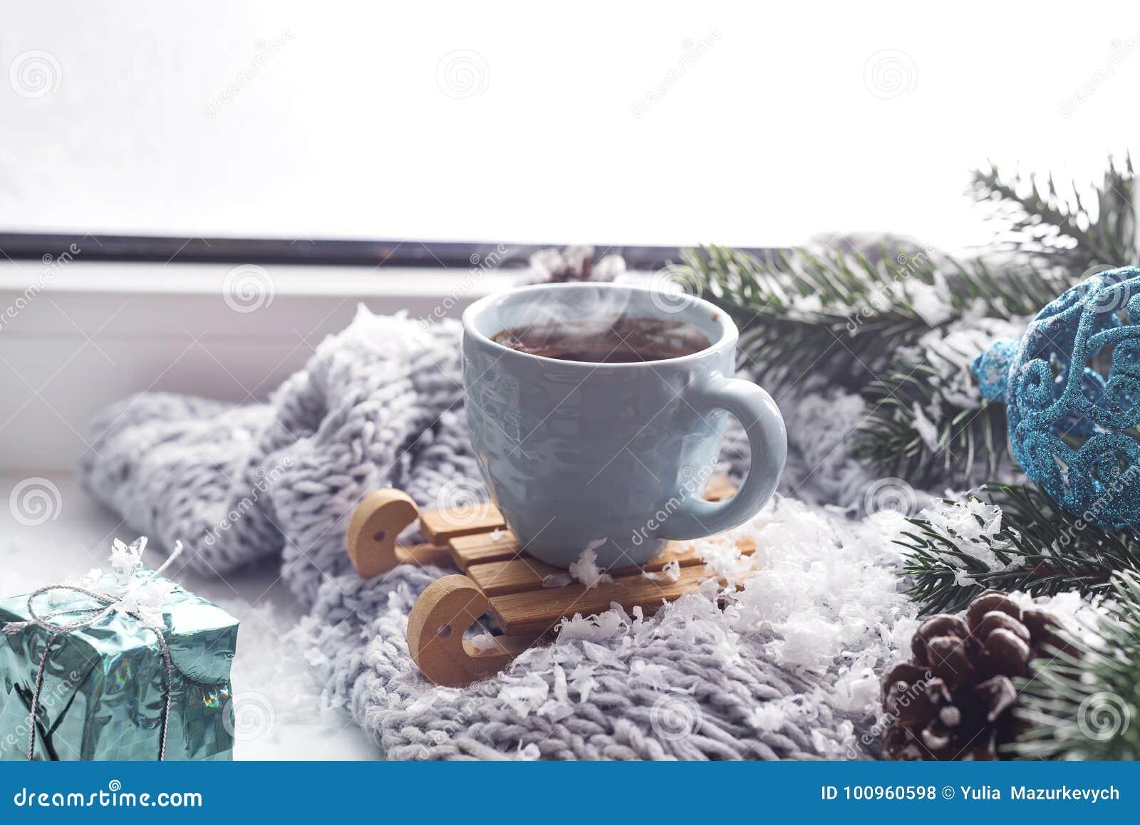 Filt med en kopp kaffe