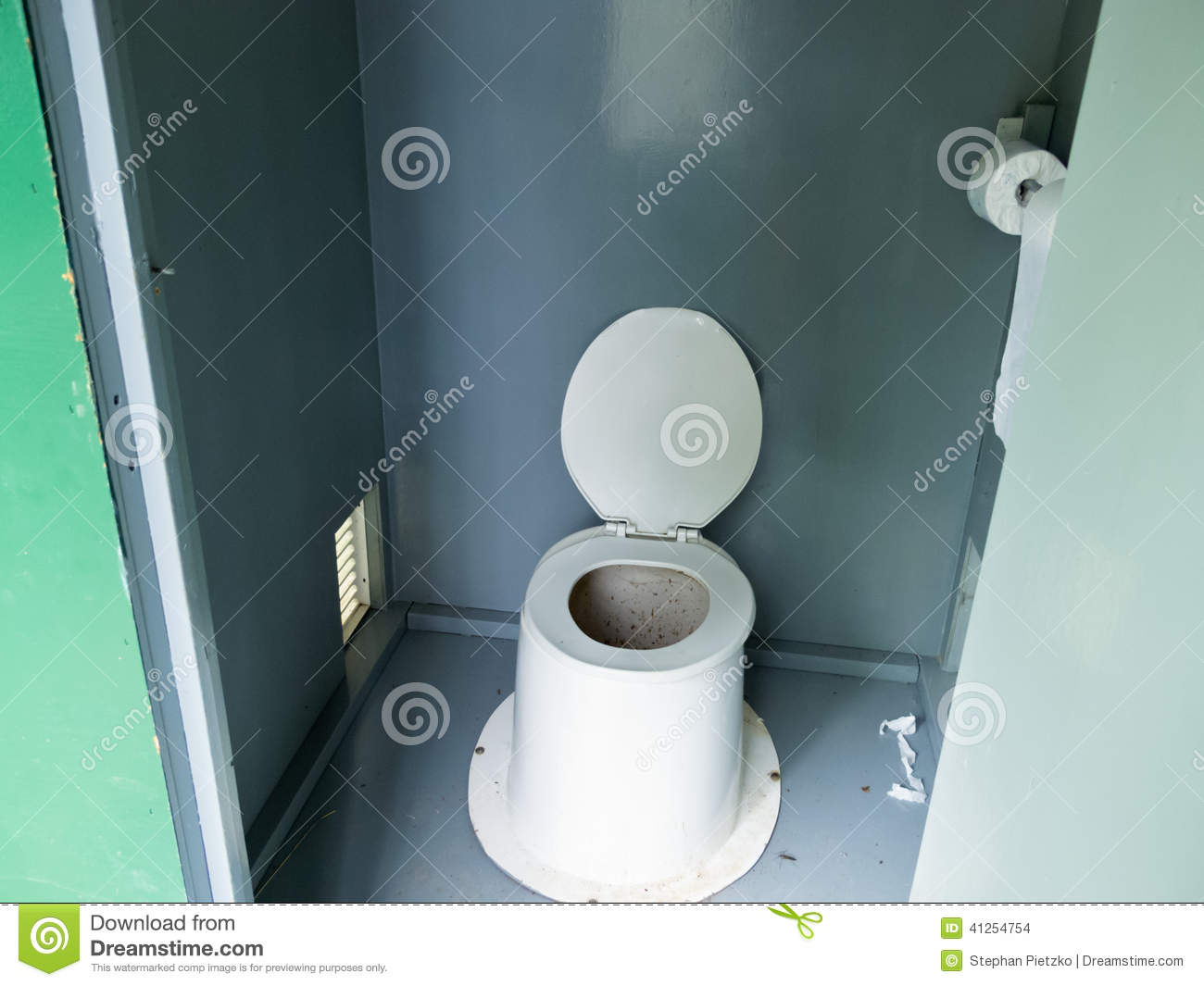 Filthy Camp Ground Outhouse Latrine Inside Toilet Stock Photo Image 41254754