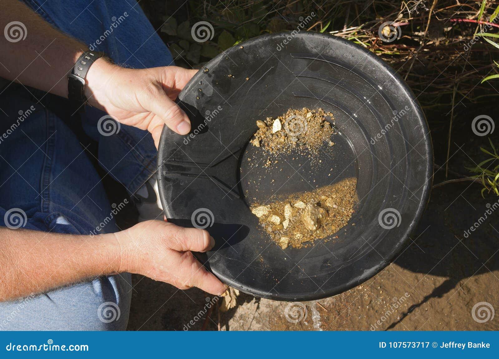 Filtração do ouro, esperando golpeá-la rica