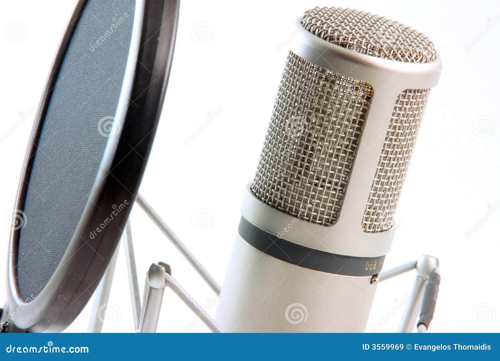 Filtro dal microfono orizzontale