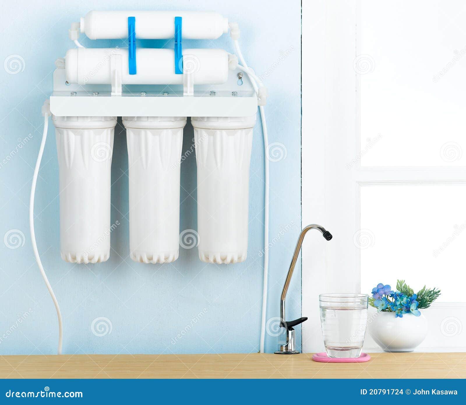 Filtro de água bebendo