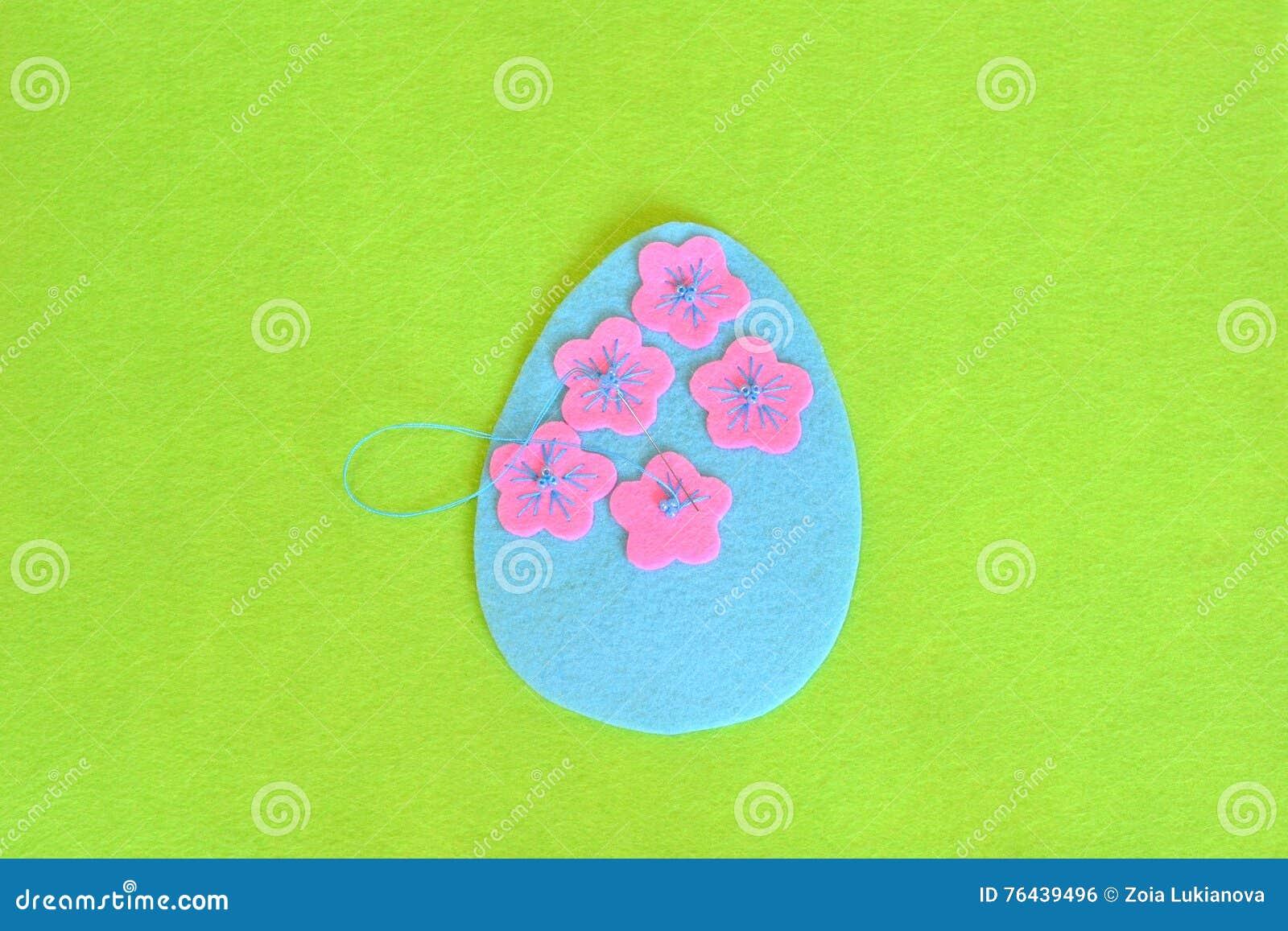 Filz Osterei Mit Blumen Nahen Sie Die Blumen Zum Filzei Jobstep
