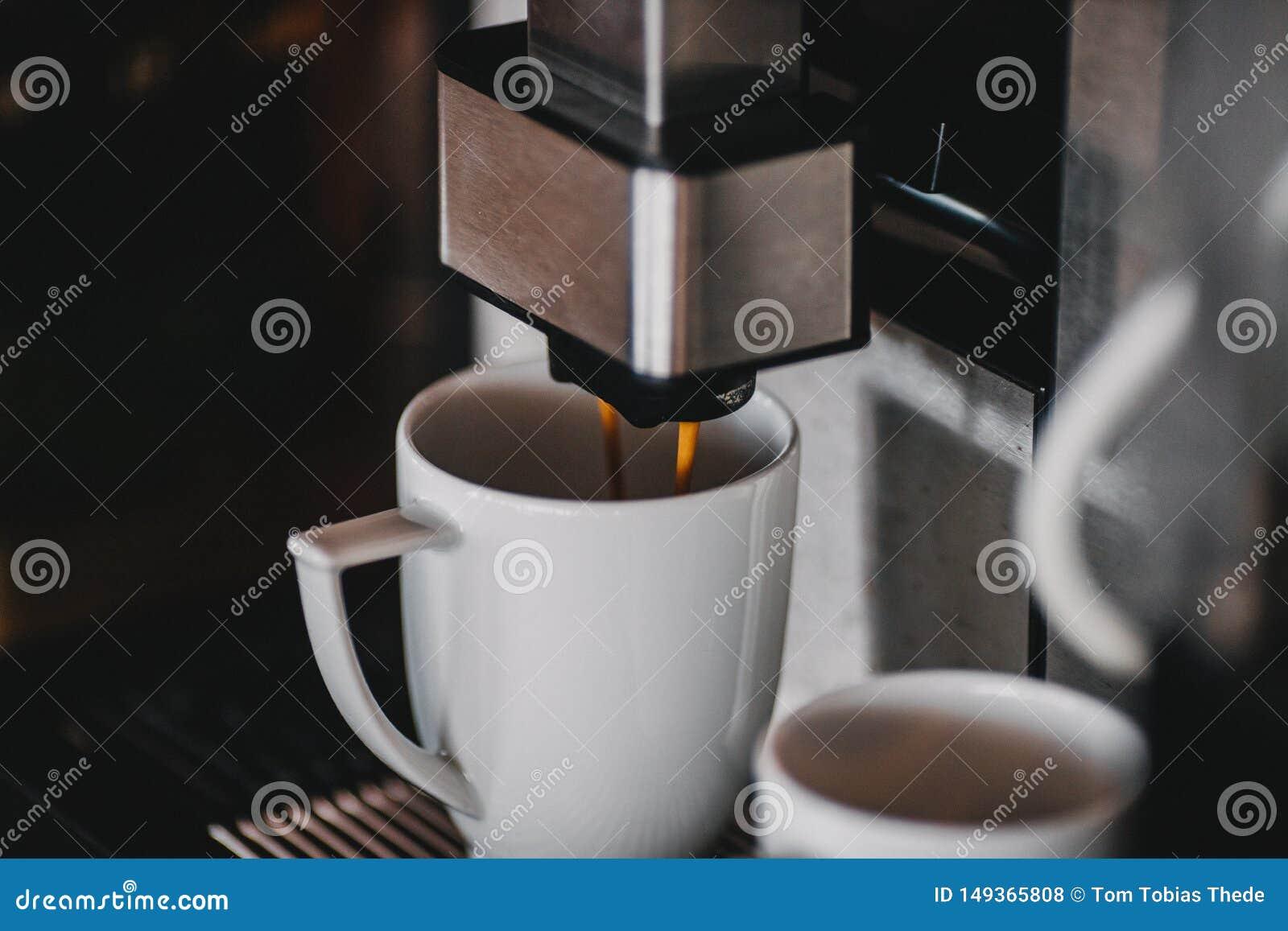 Fim autom?tico da m?quina do caf? acima