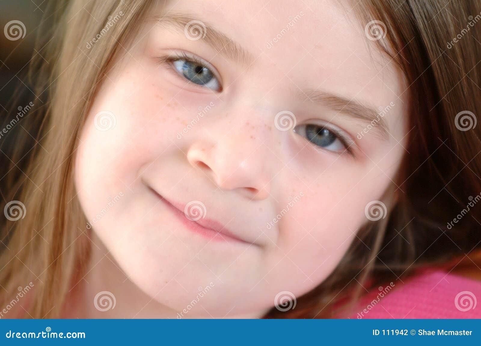 Fim Criança-Bonito da menina acima