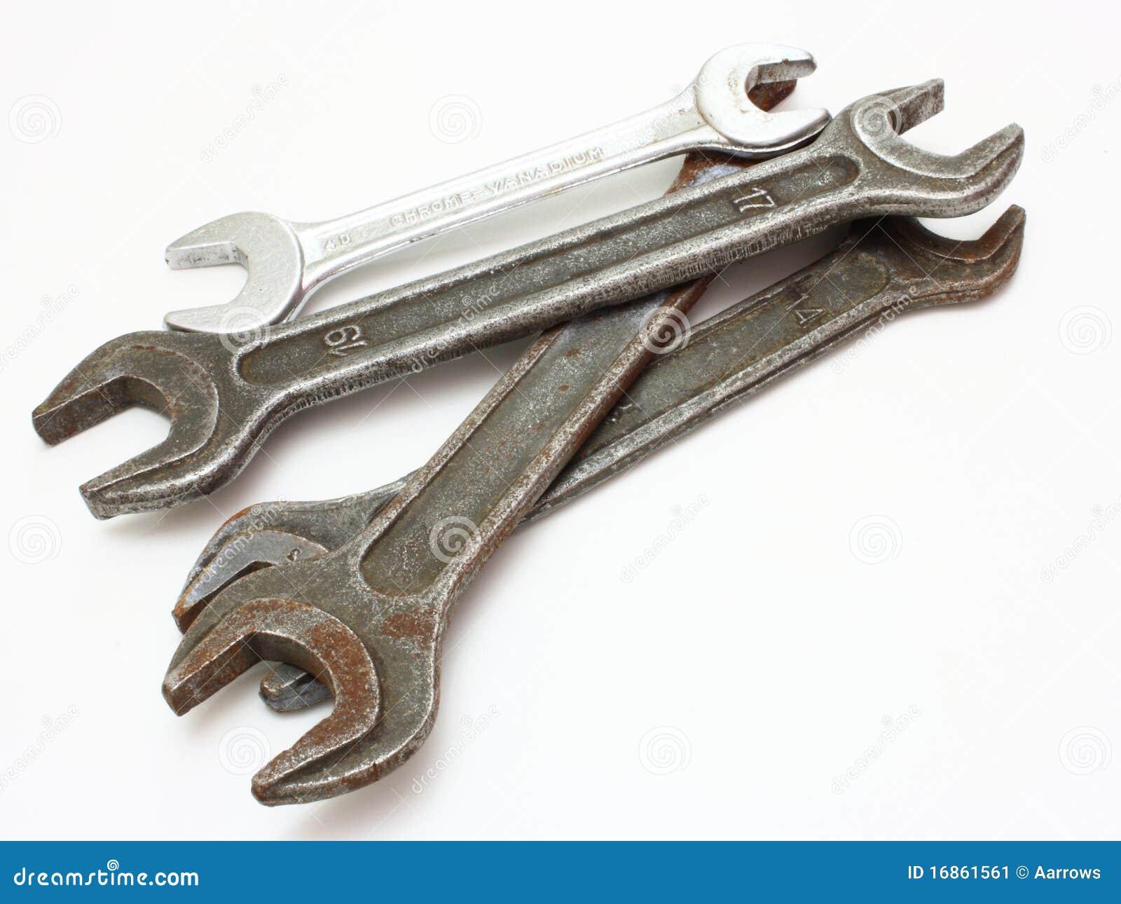 Fim da chave do aço inoxidável acima