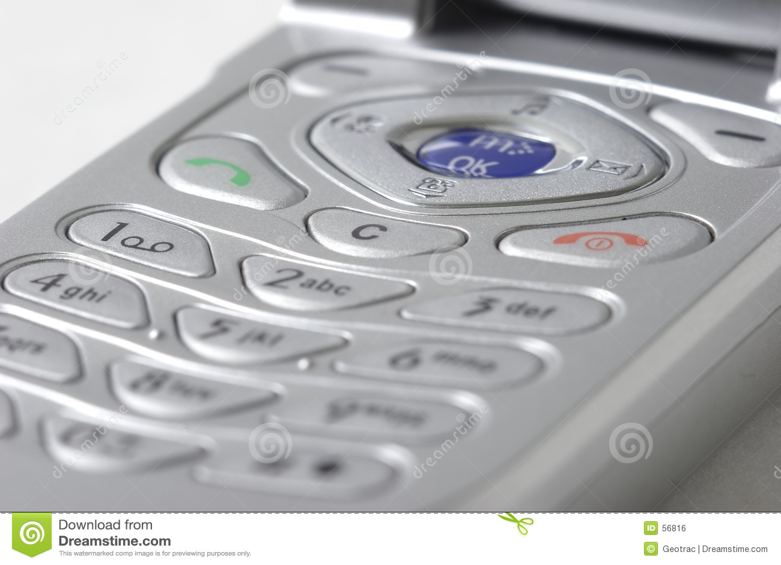 Fim do telefone de pilha acima