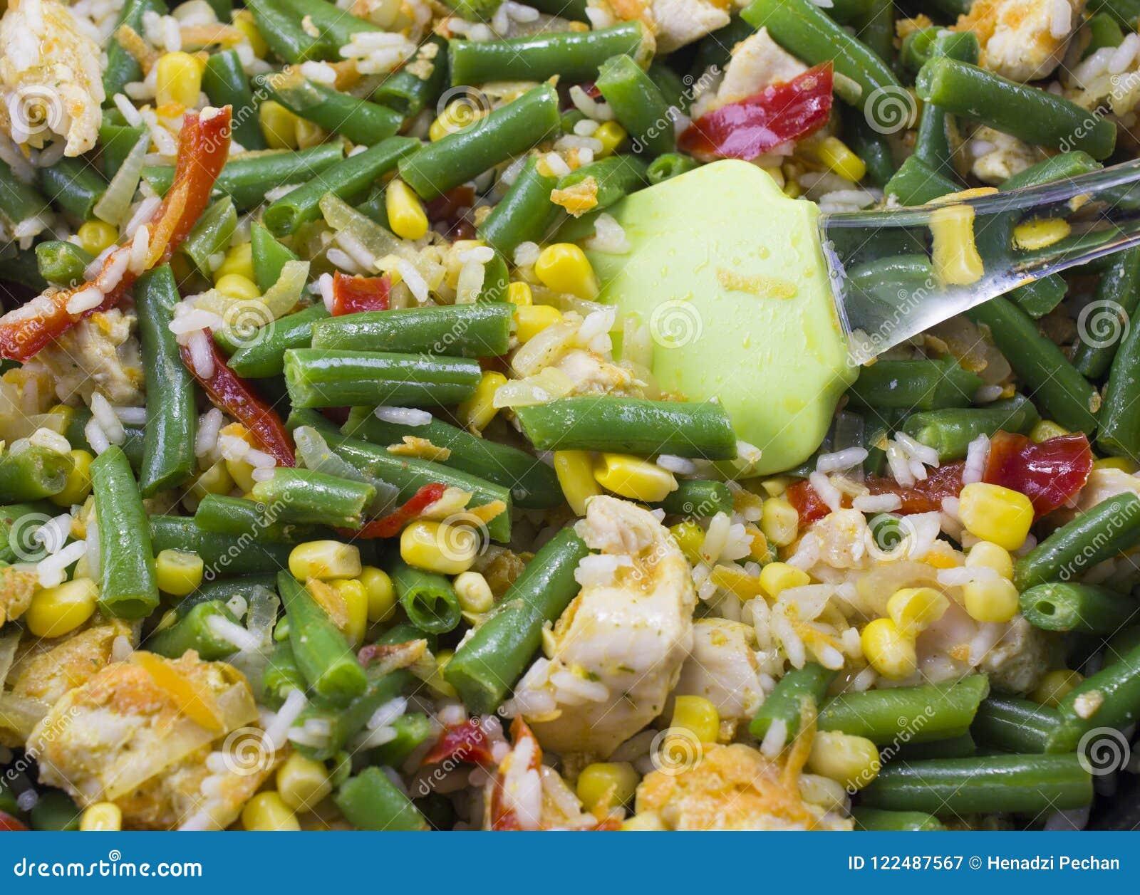 Fim vegetal do guisado acima do vegetal