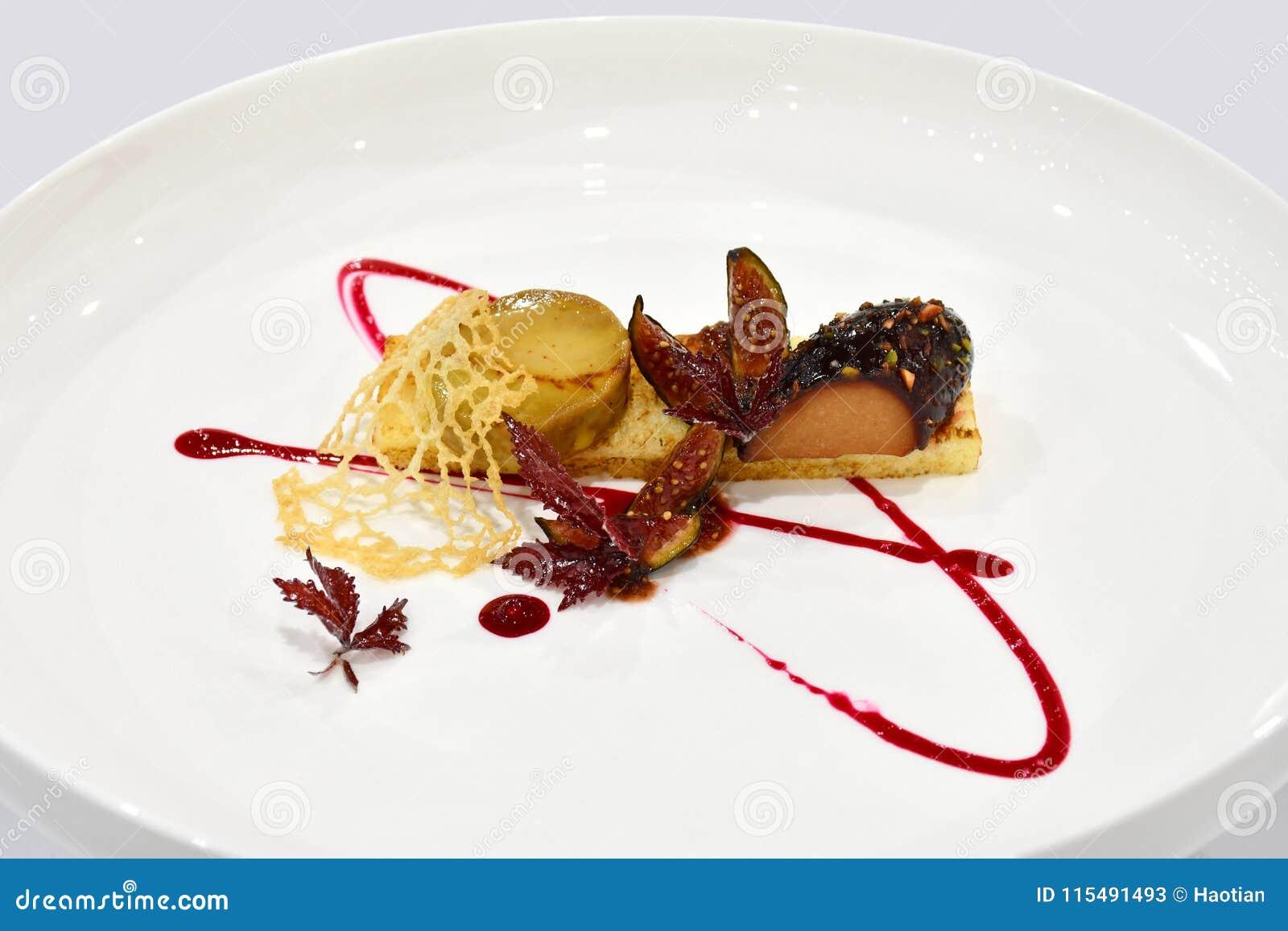 Fin äta middag huvudrätt - frukt- Terrine