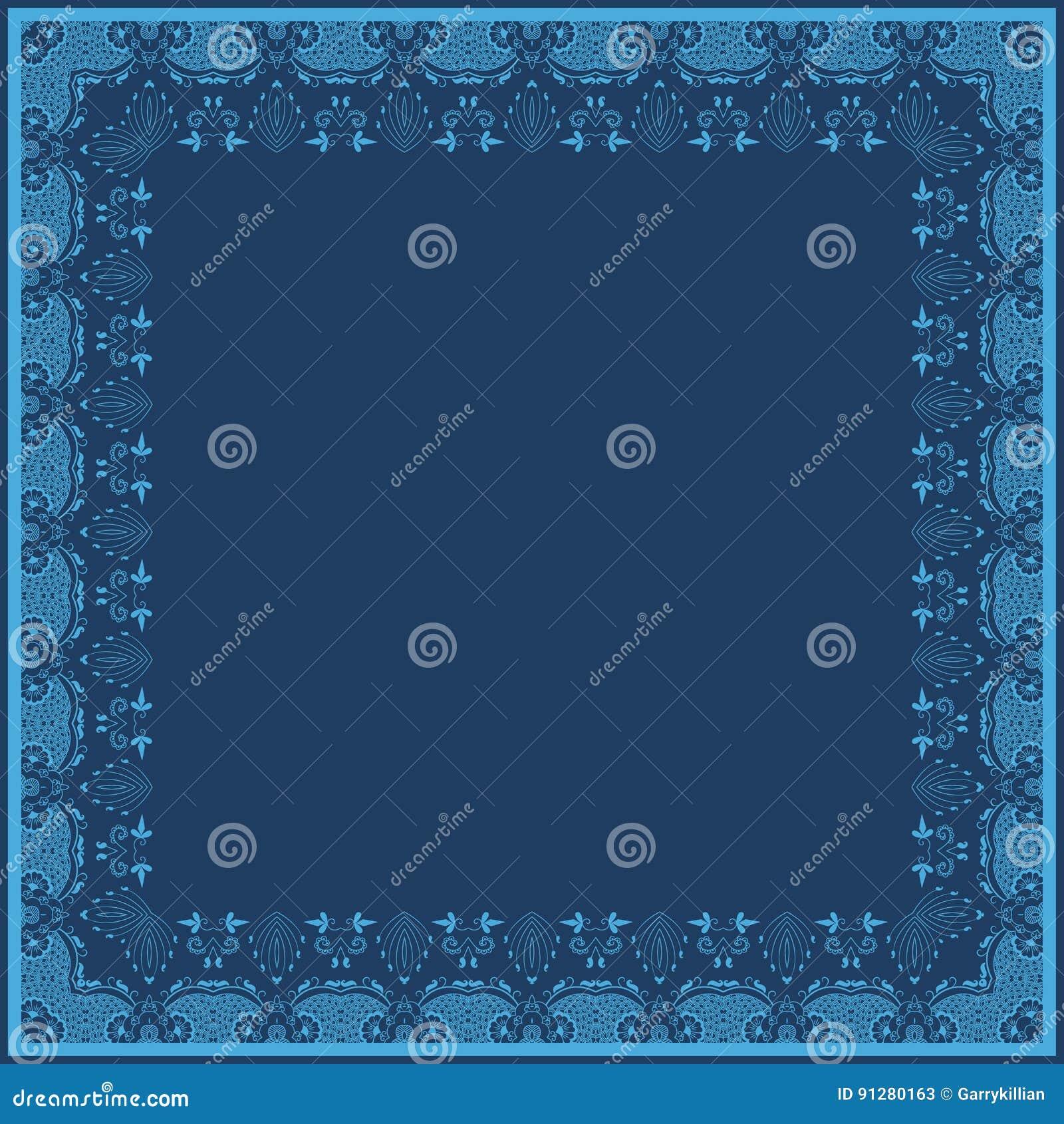 Fin blom- fyrkantig ram för vektor Dekorativ beståndsdel för inbjudningar och kort Gränsbeståndsdel