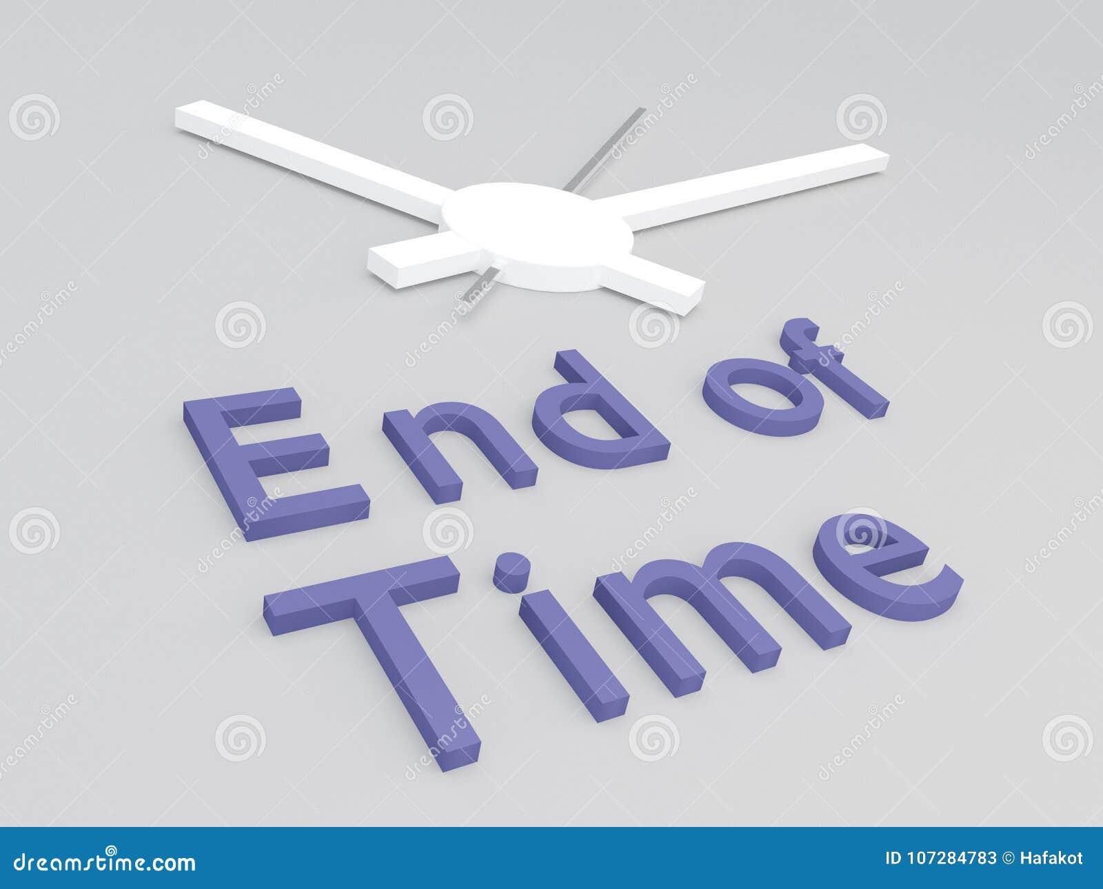 Fin de concept de temps