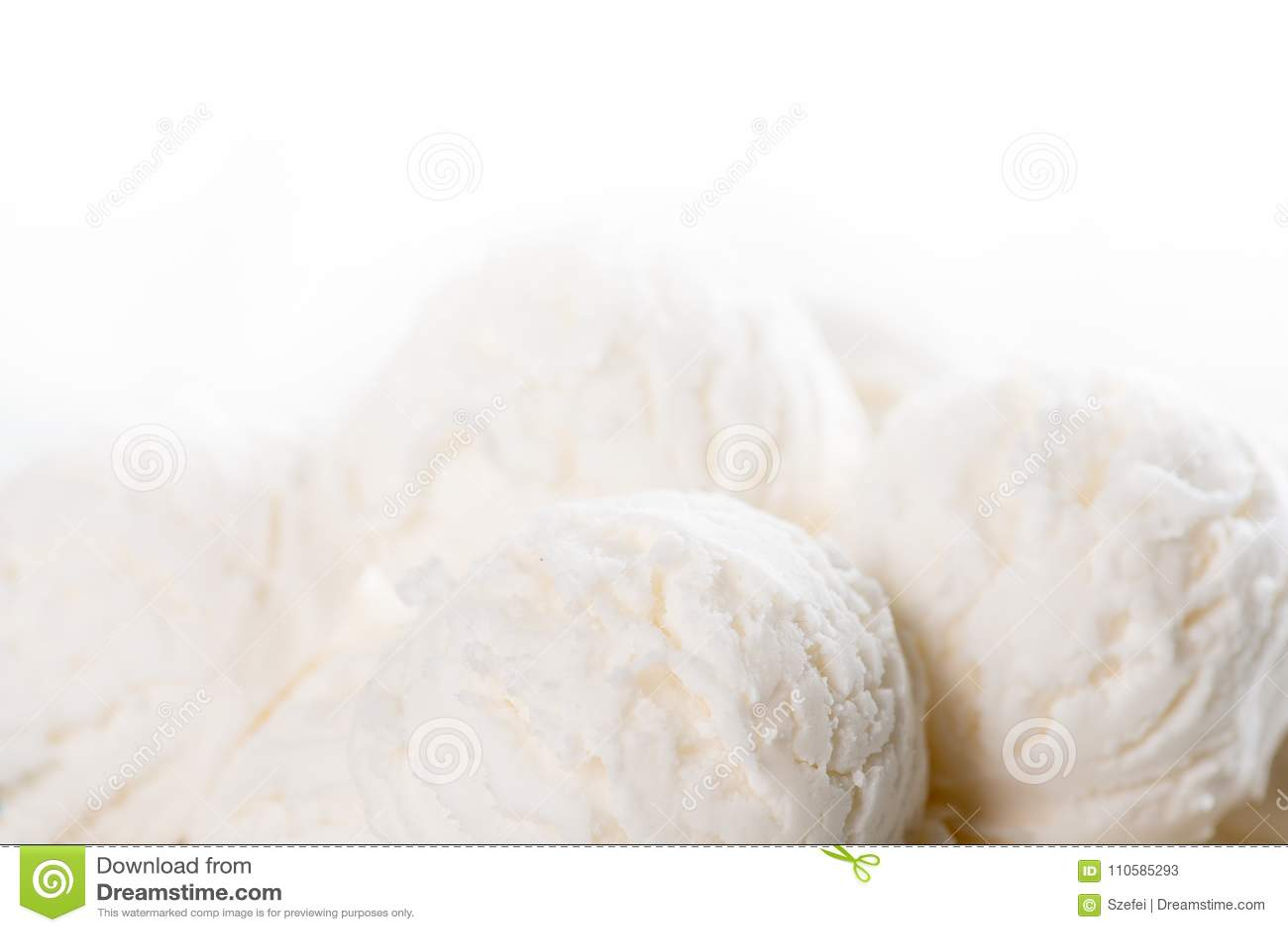 Fin de crème glacée de noix de coco