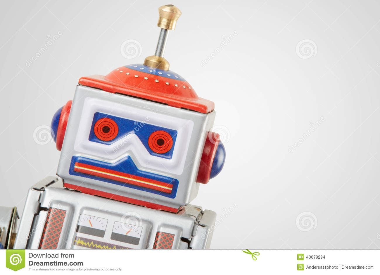 Fin de jouet de vintage de robot