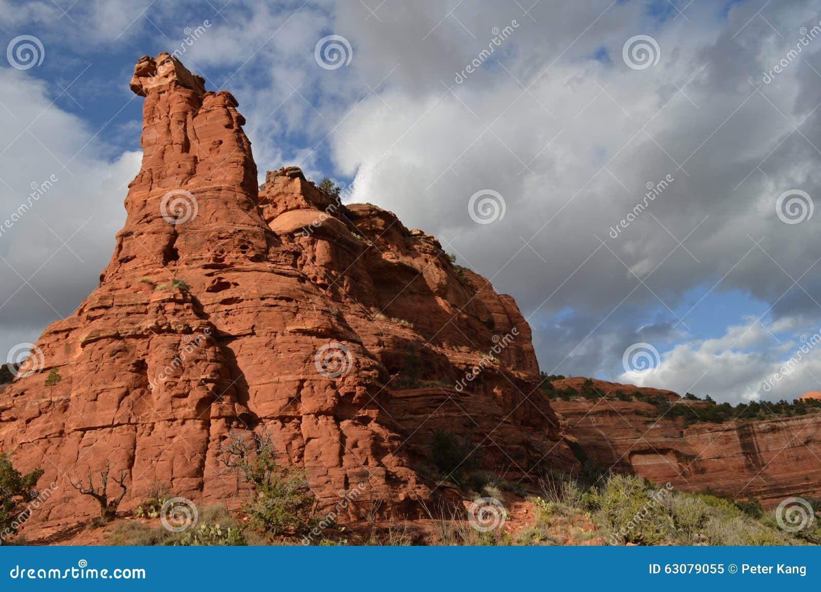 Download Fin De L'après-midi De Montagne Spectaculaire De Sedona Image stock - Image du automne, après: 63079055