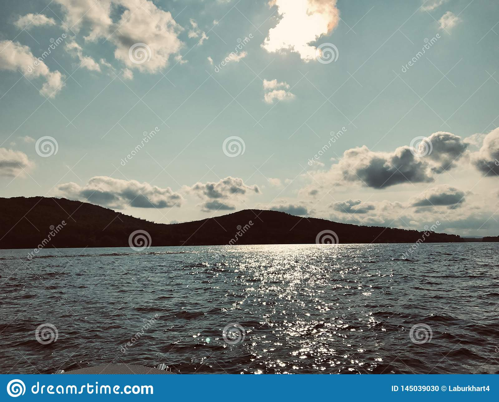 Fin de l après-midi sur le lac Winnipesaukee