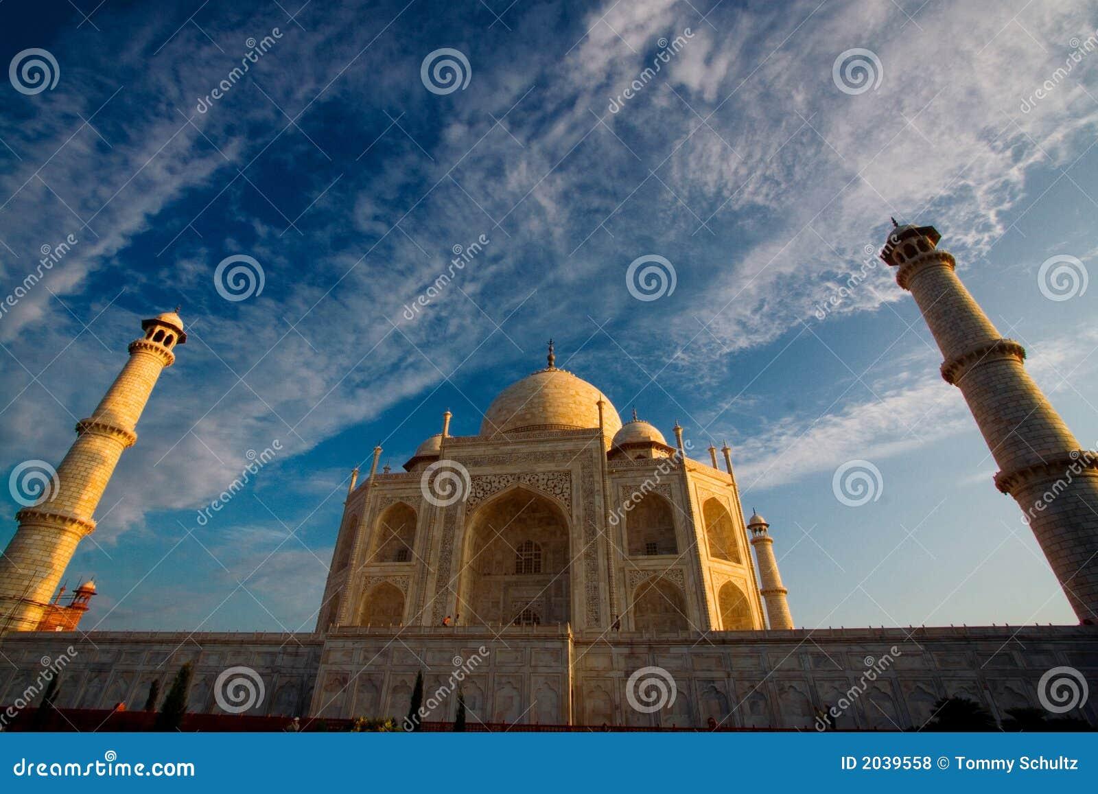 Fin de Taj Mahal vers le haut