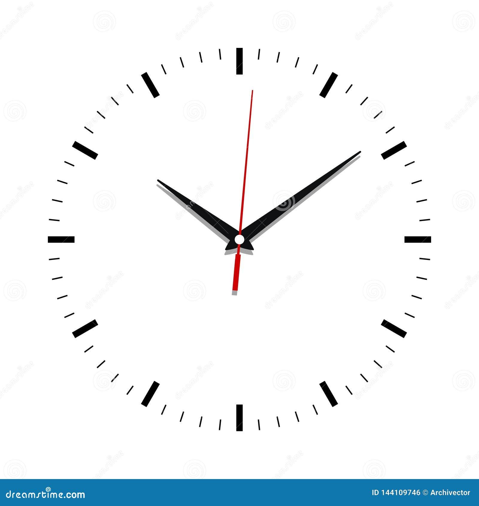 Fin de visage d horloge sans nombres