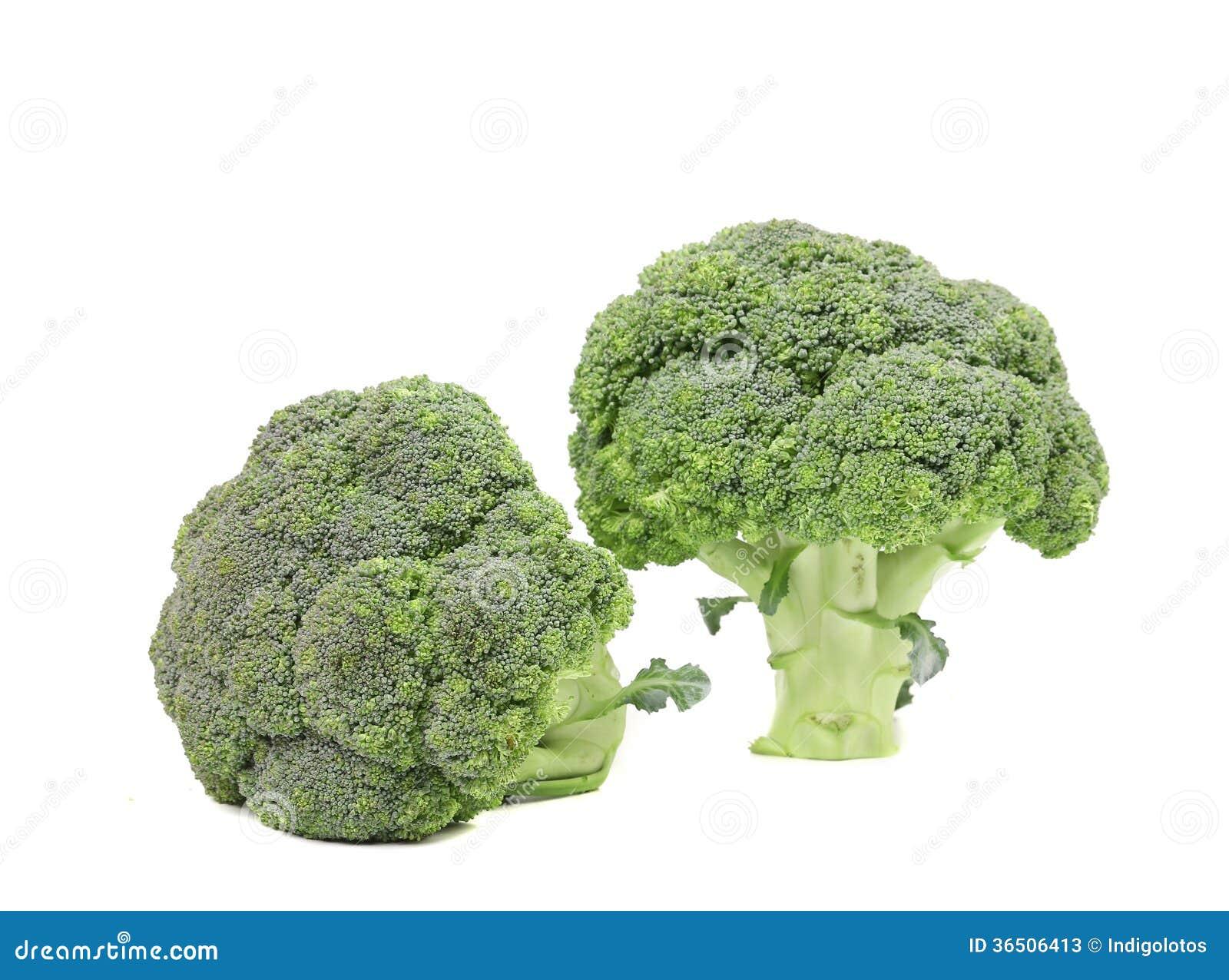 Fin fraîche du brocoli deux.