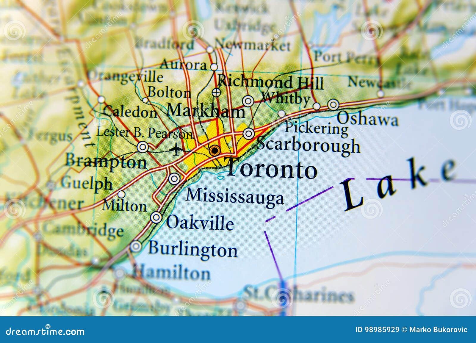Fin géographique de carte de Toronto