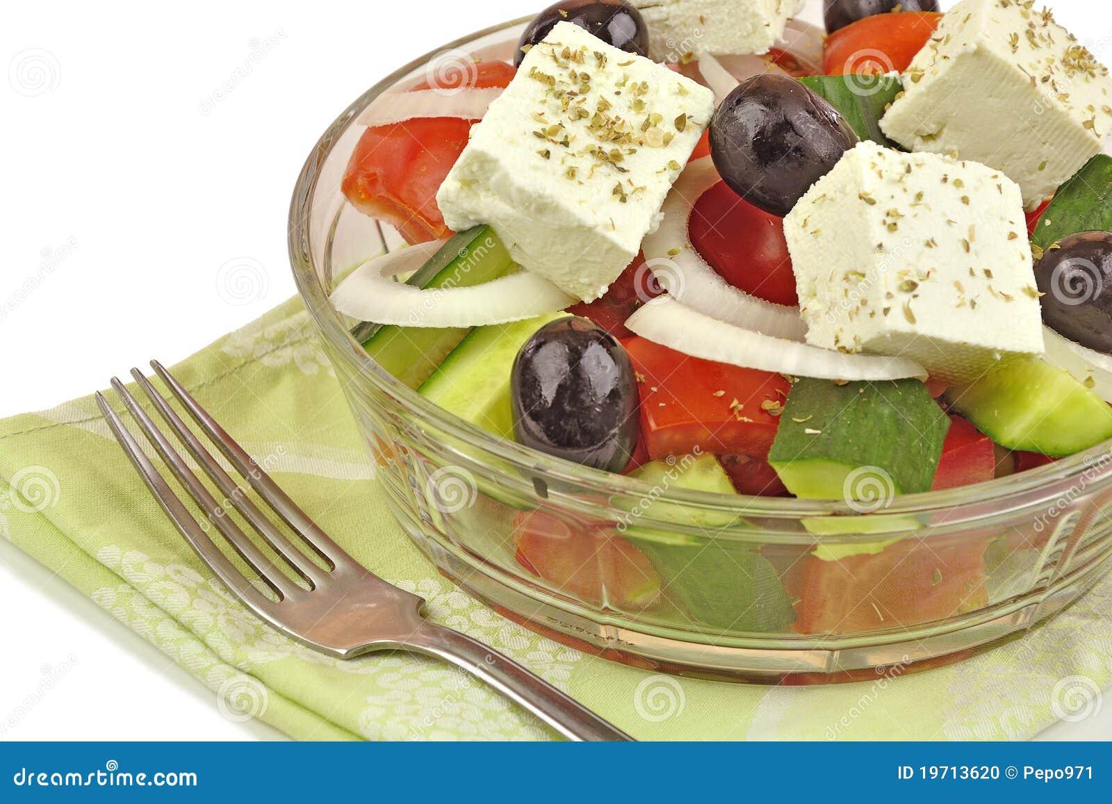 Fin grecque de salade vers le haut photo stock image du for Vers des salades