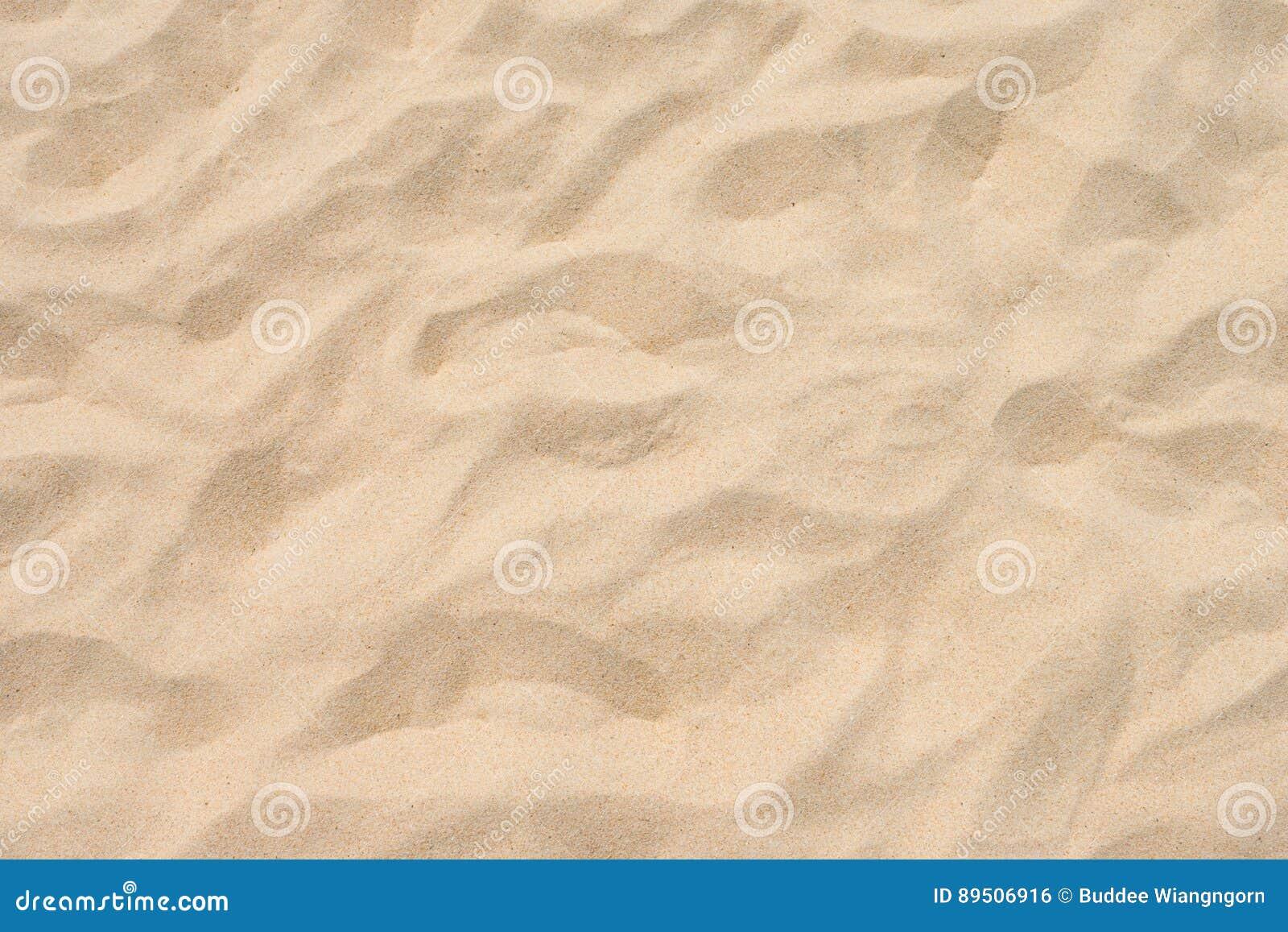 Fin strandsand i sommarsolen