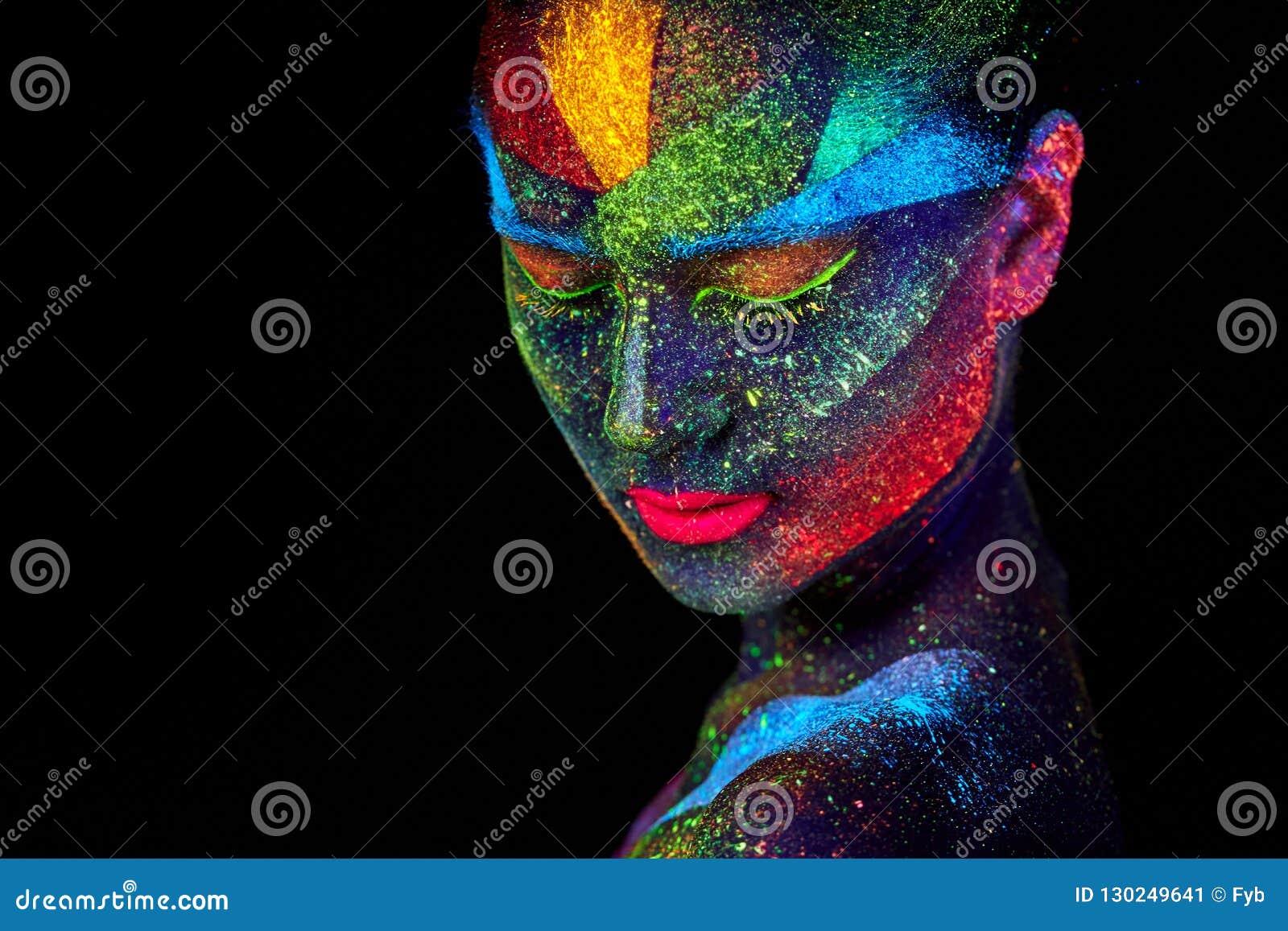 Fin vers le haut de portrait abstrait UV
