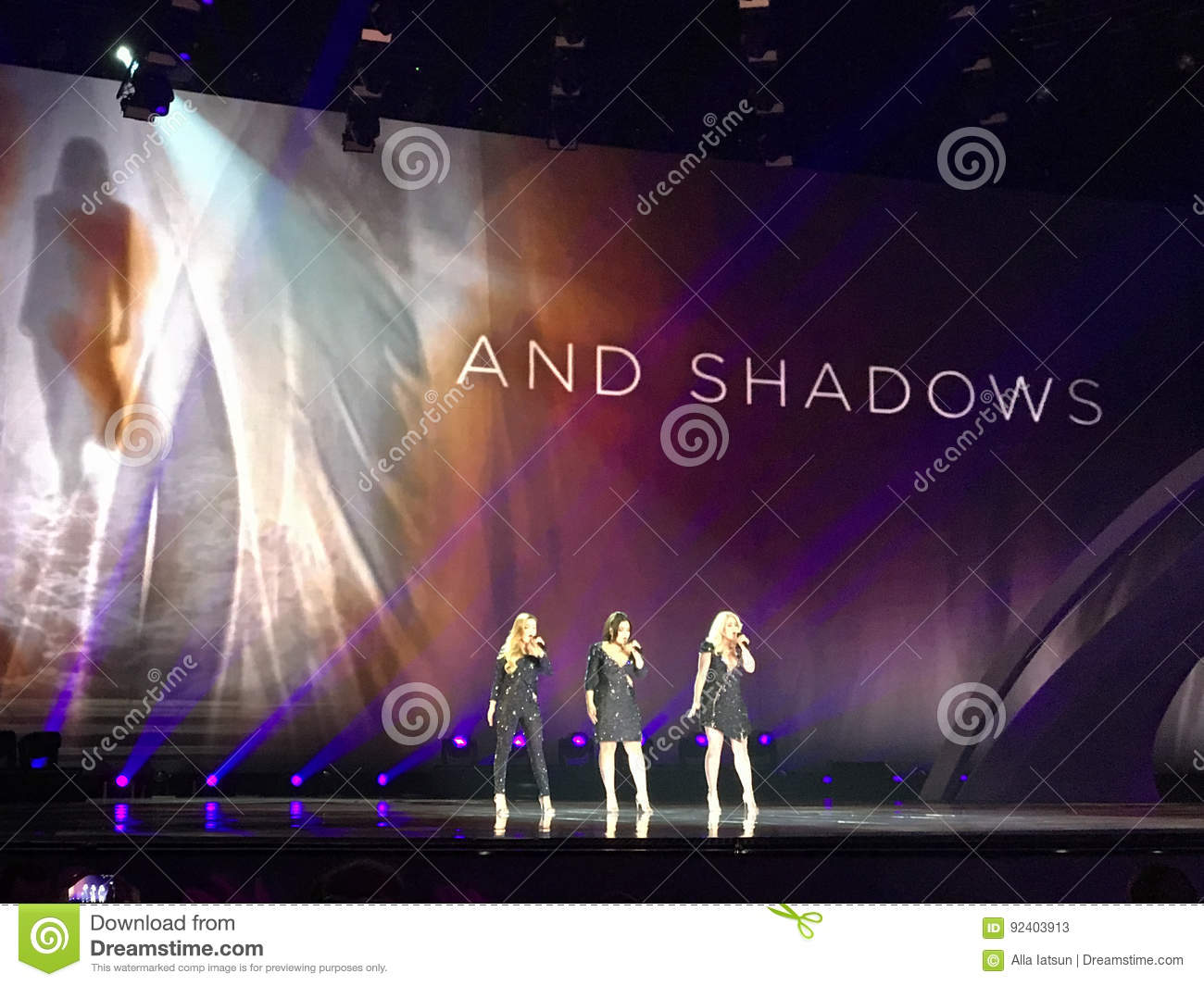 Final of Eurovision 2017 on the stage of the International Exhibition Center in the Kyiv, Ukraine. OG3NE from