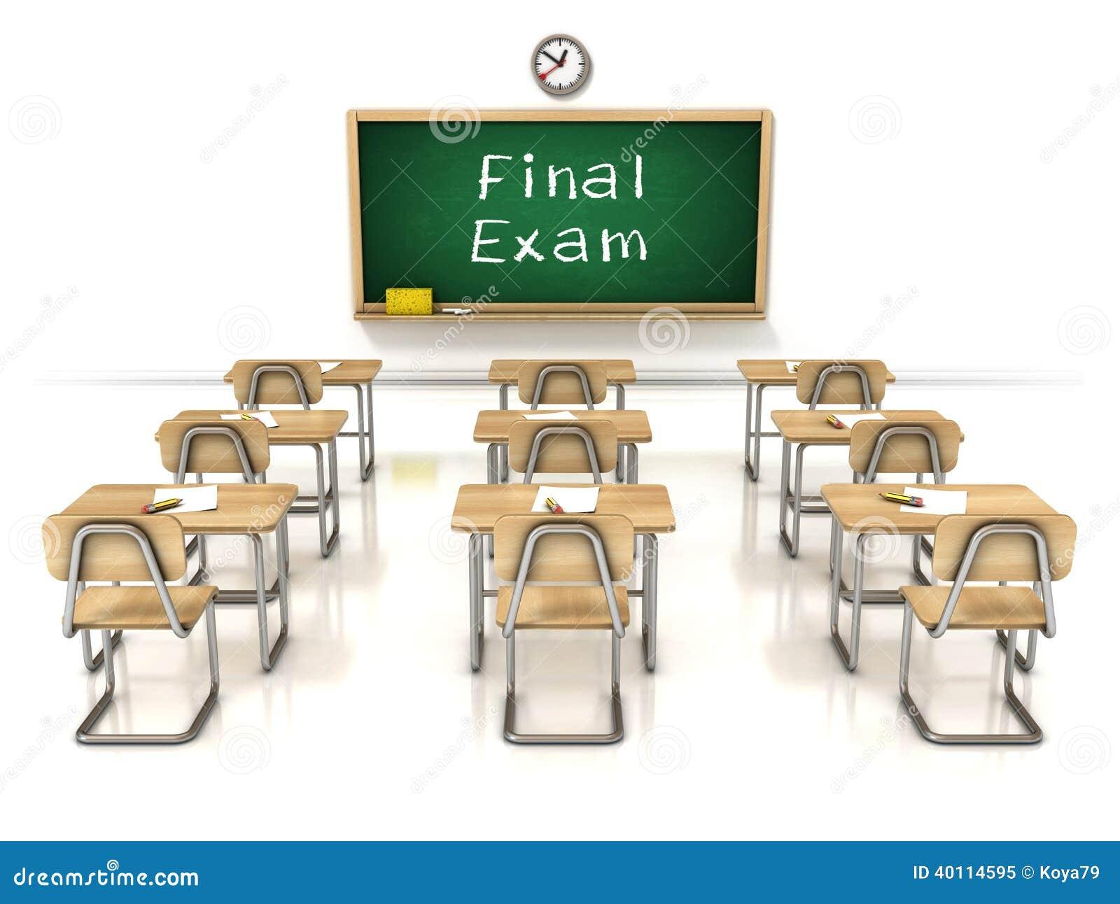 Final Exam 3d Illustration Stock Illustration Image Of