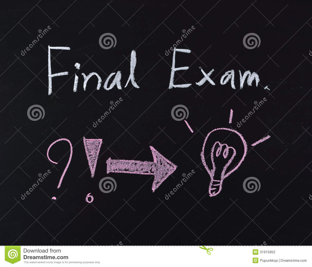 Z Classroom Design ~ Final exam text stock photography image