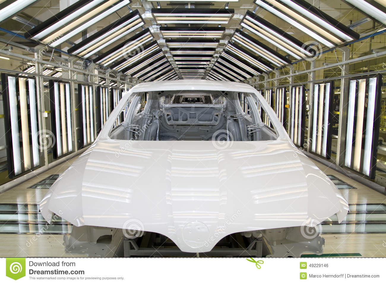 Final inspection of a car body in the paintshop stock for Car paint shop