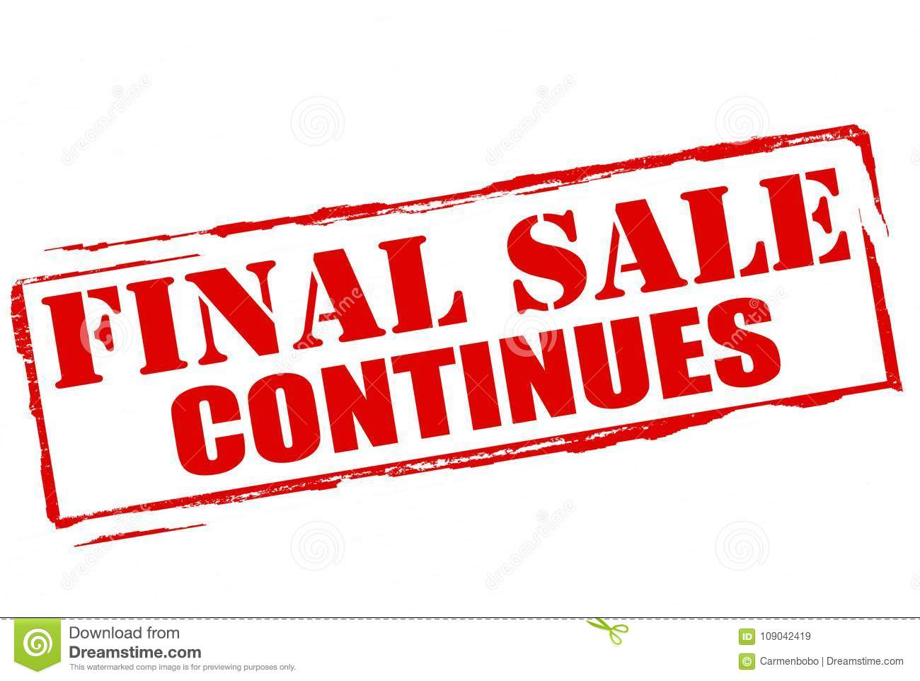 Download Final Sale Continues Stock Illustration Of Stamp