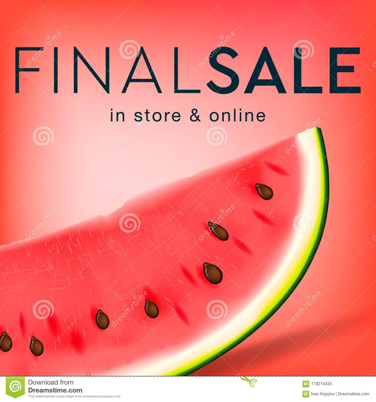 final sale social media template for online store watermelon slice