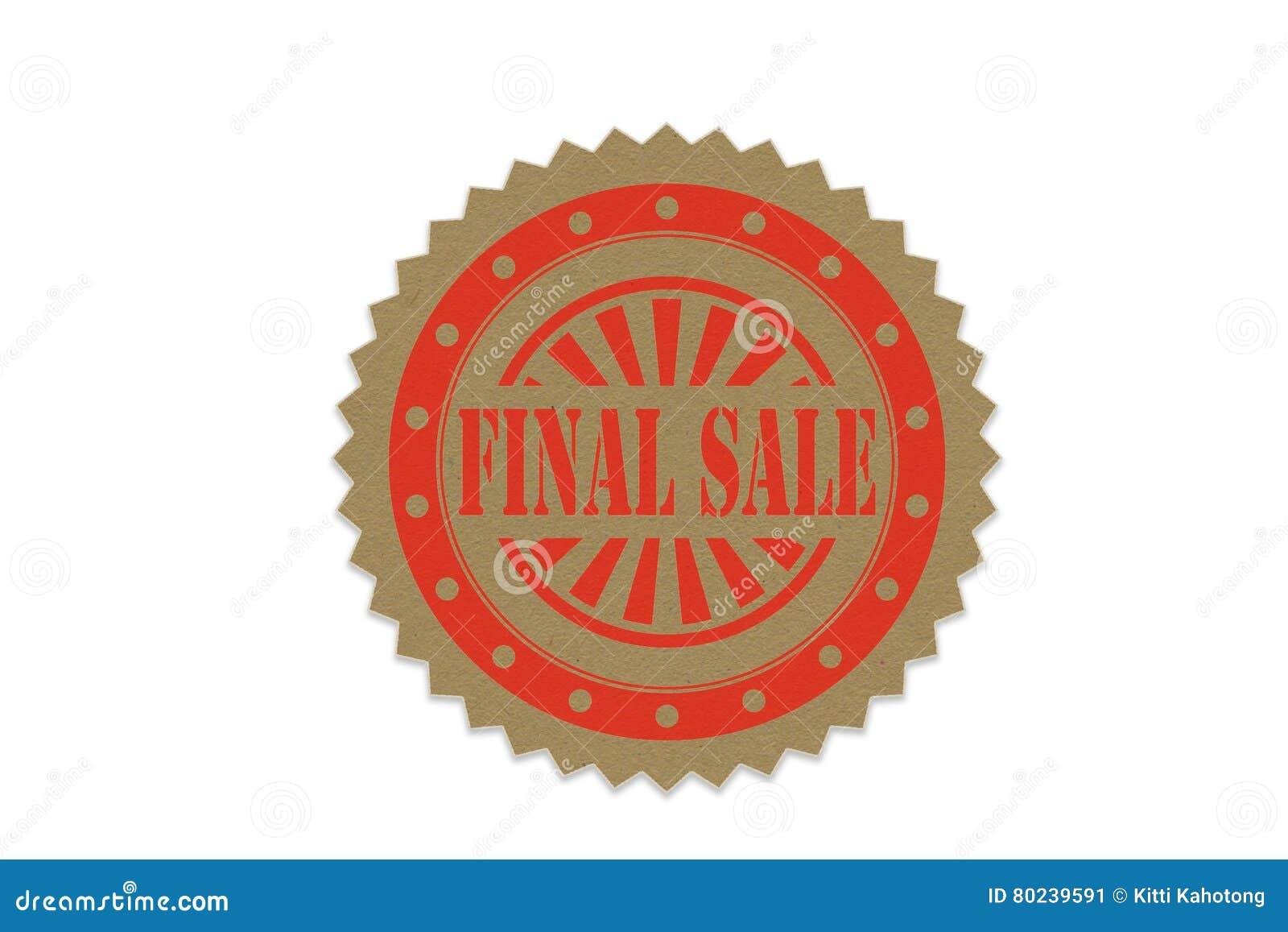 Download Final Sale Stamp On Paper Stock Illustration Of Fashion