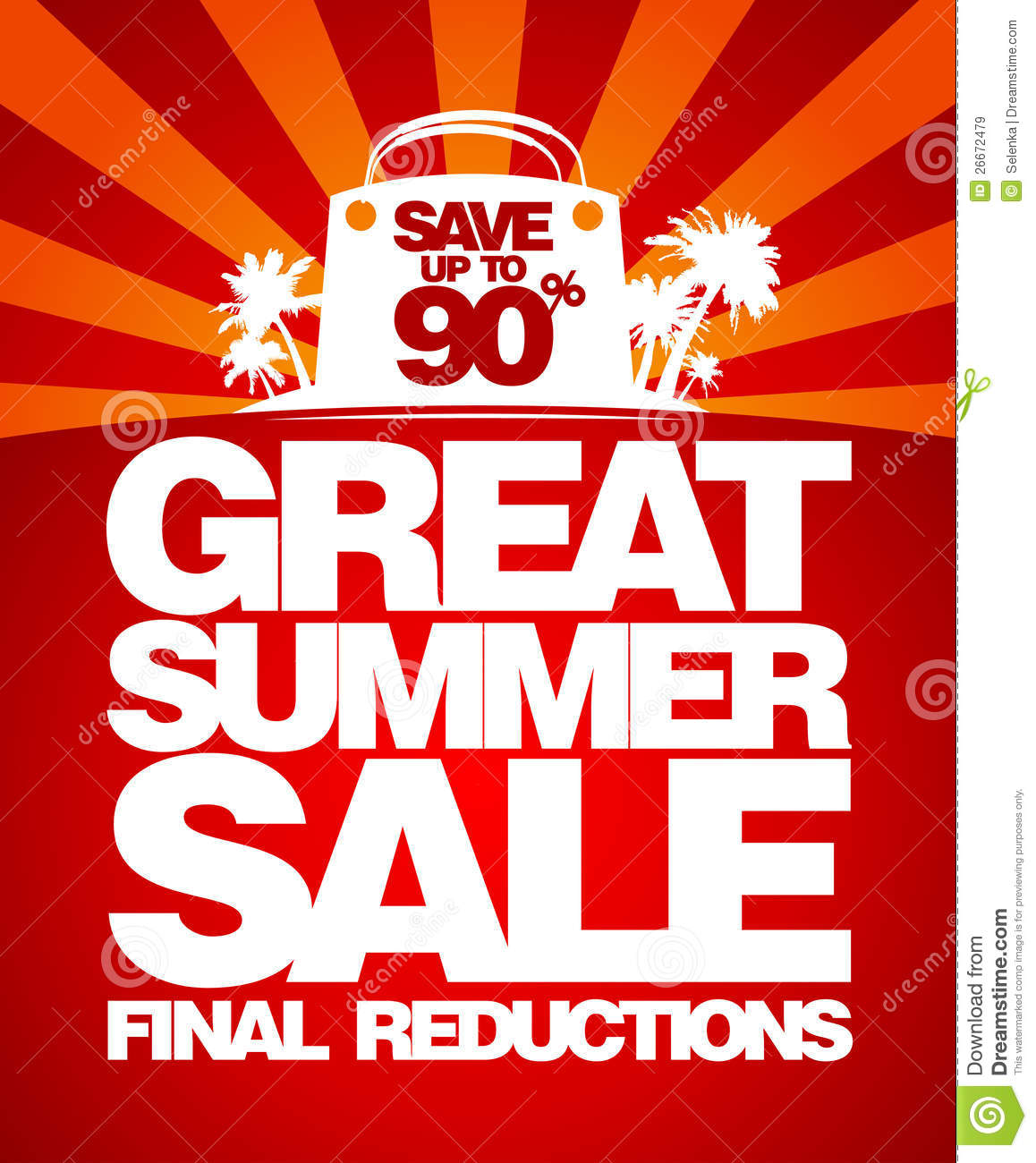Final Summer Sale Design Template. Royalty Free Stock Images - Image: 26672479