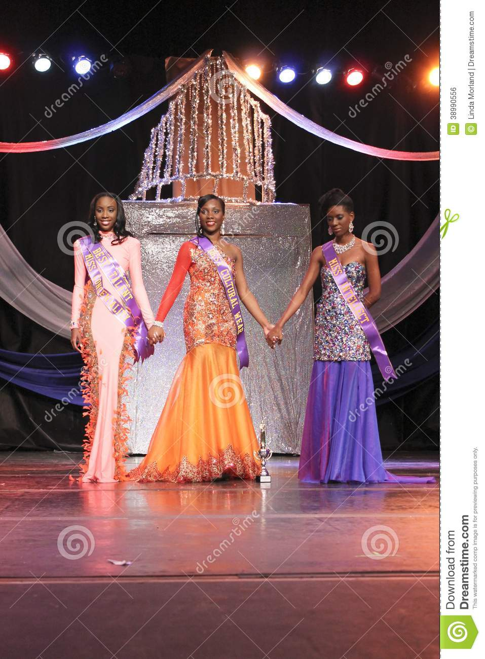 Final Three Competitors Of Miss St. Croix Editorial Photo ...