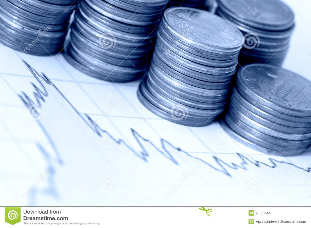 finance stock image image of coins funds income growth 25082385