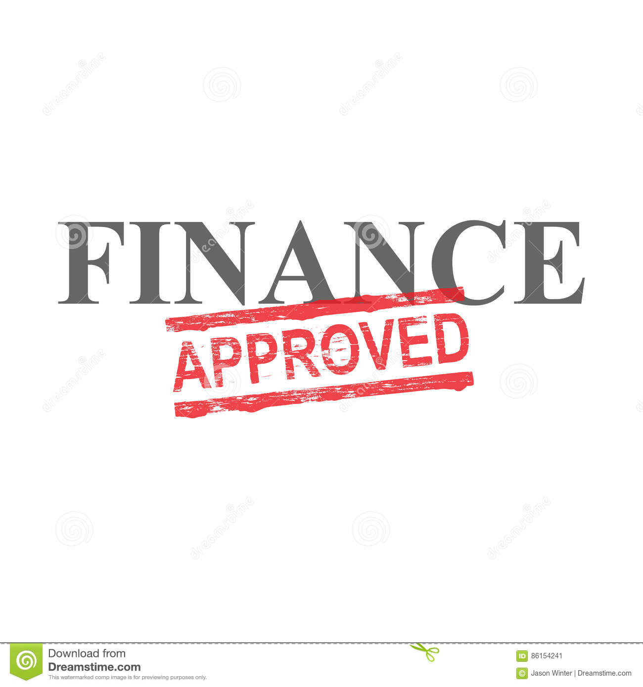 Finance Words: Finance Approved Word Stamp Stock Vector