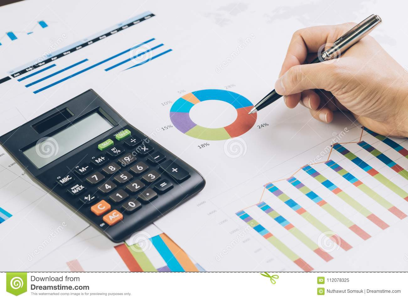 finance business budget planning or analysis concept hand hold