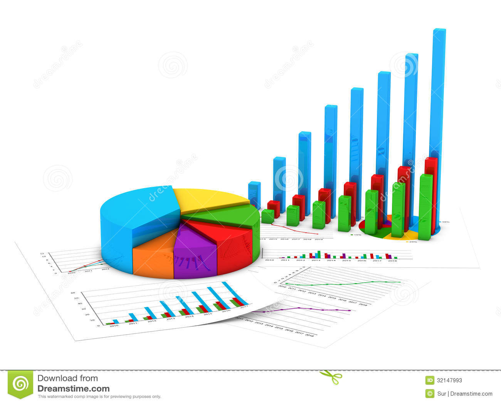 Finance Charts Stock Photos Image 32147993