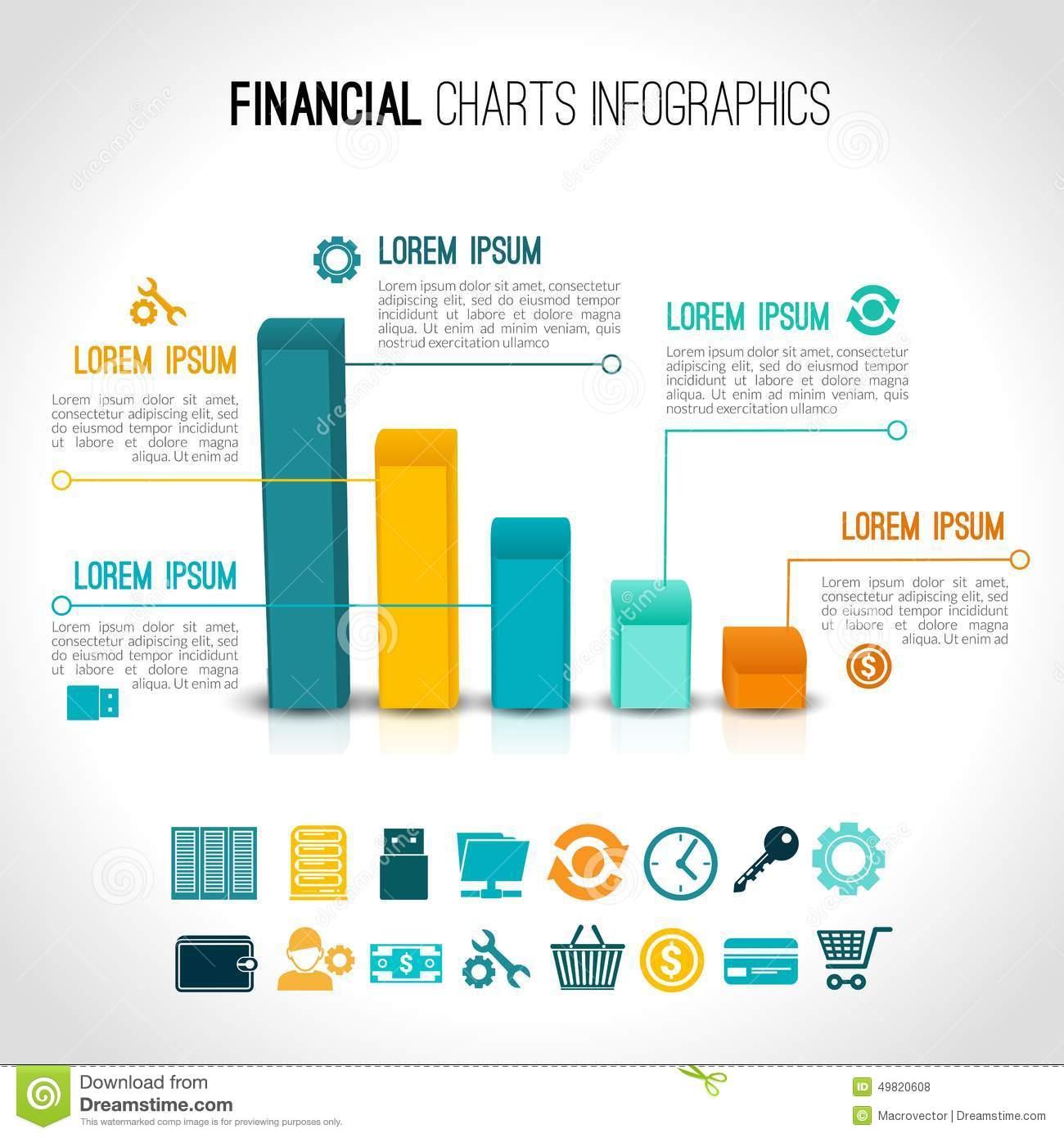 Finance Charts Infographic Stock Vector - Image: 49820608