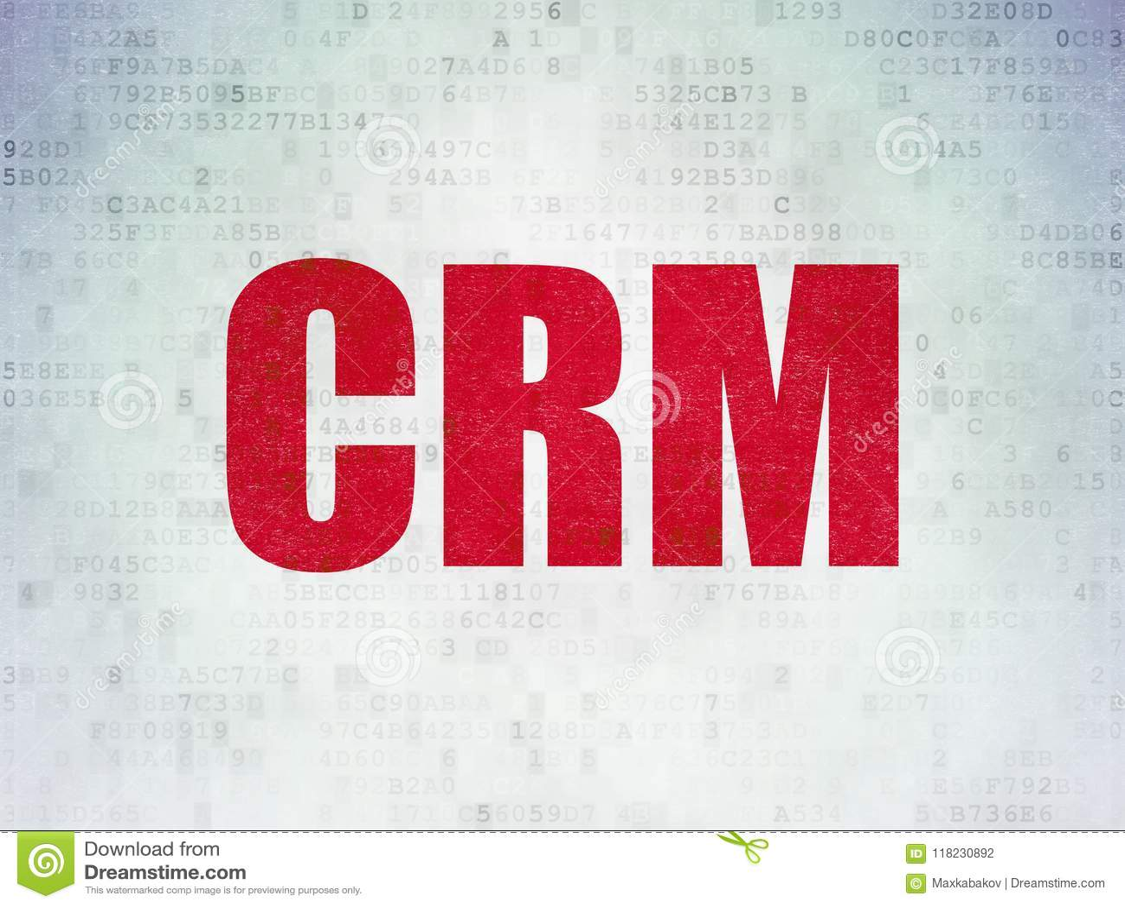 Finance concept: CRM on Digital Data Paper background