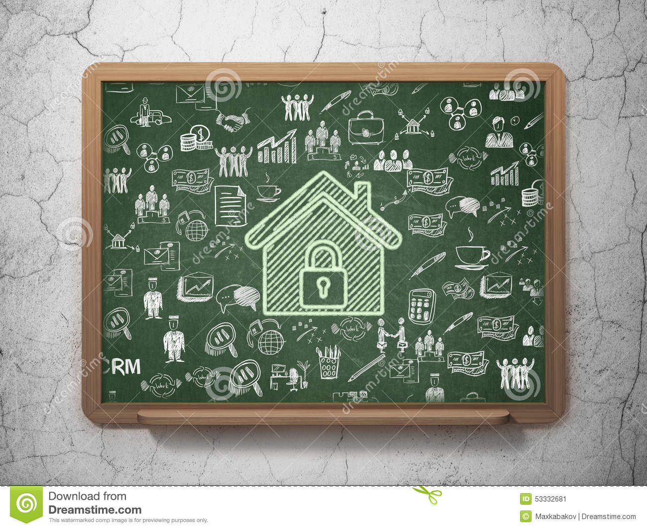 Finance concept: Home on School Board background