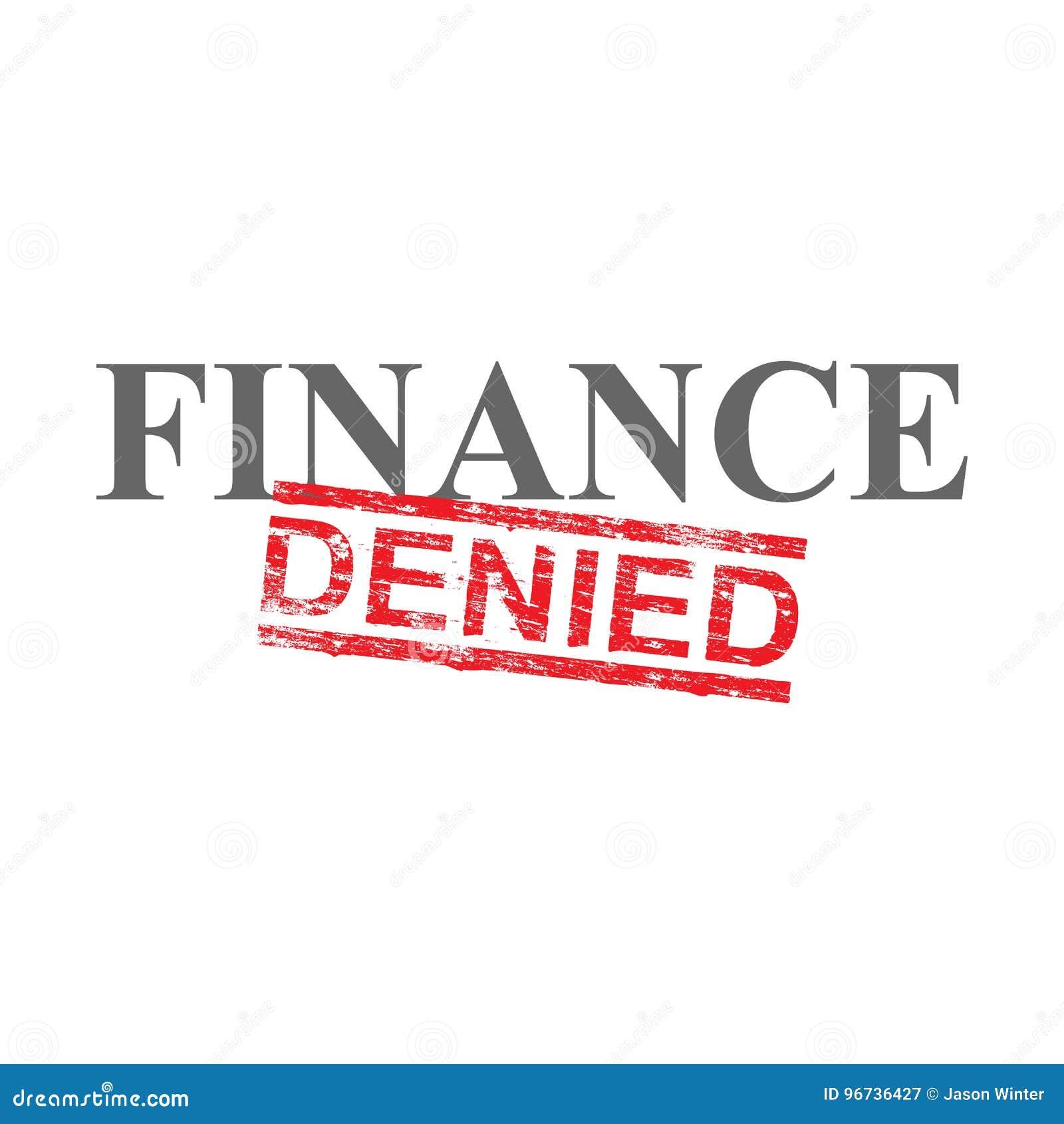 Finance Denied Word Stamp